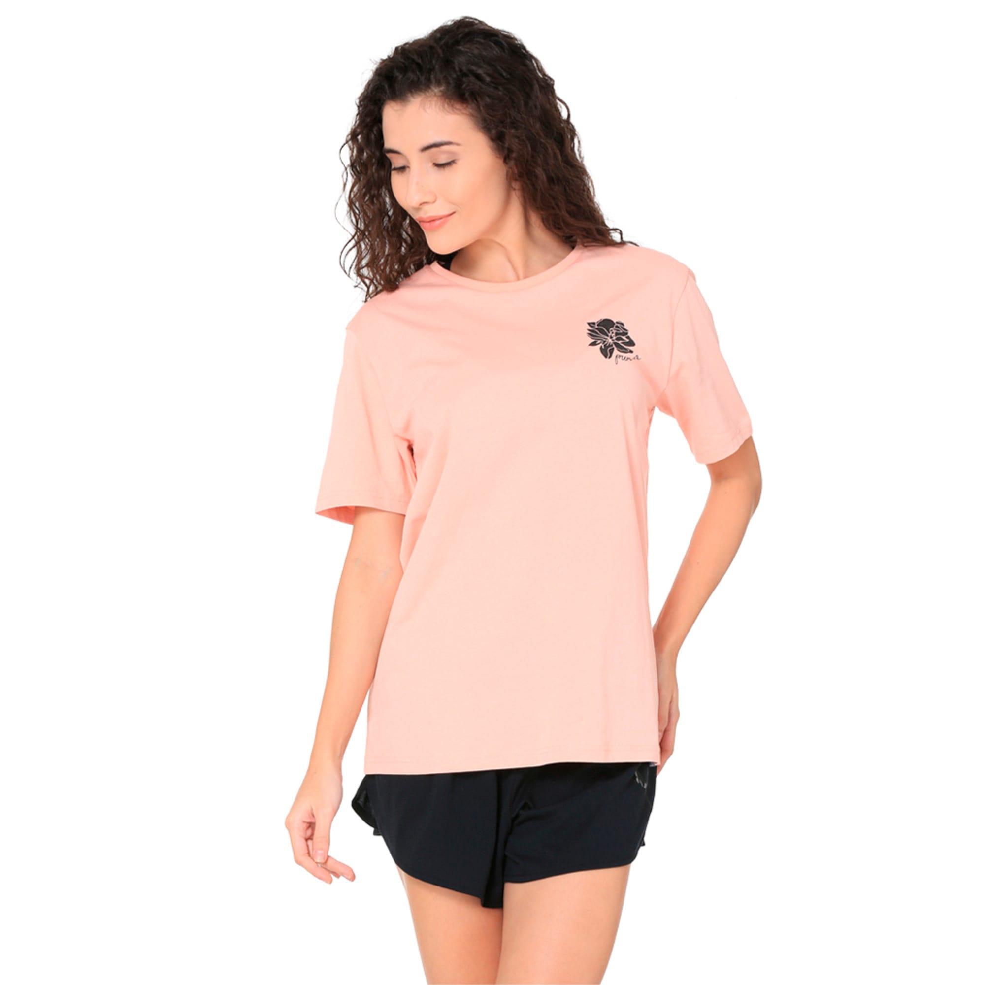 Thumbnail 2 of Women's Graphic T-shirt, Peach Beige, medium-IND