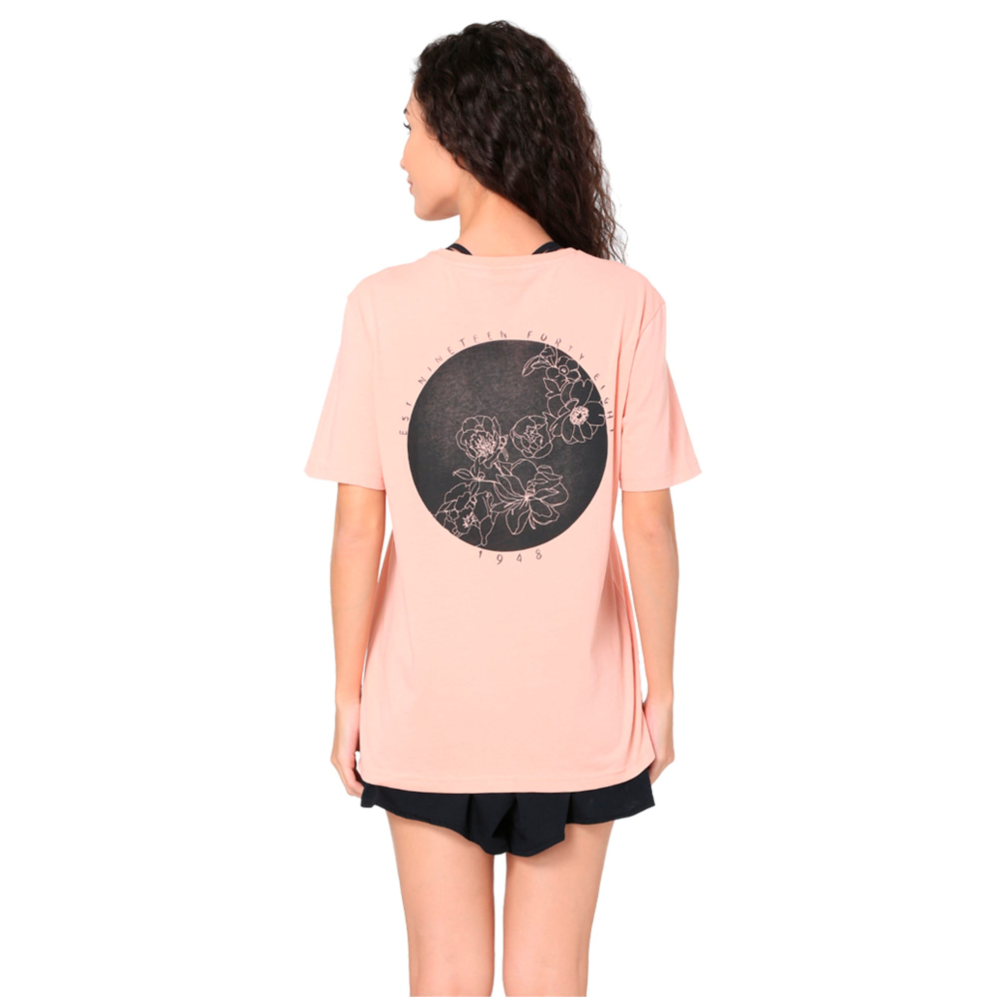 Thumbnail 3 of Women's Graphic T-shirt, Peach Beige, medium-IND