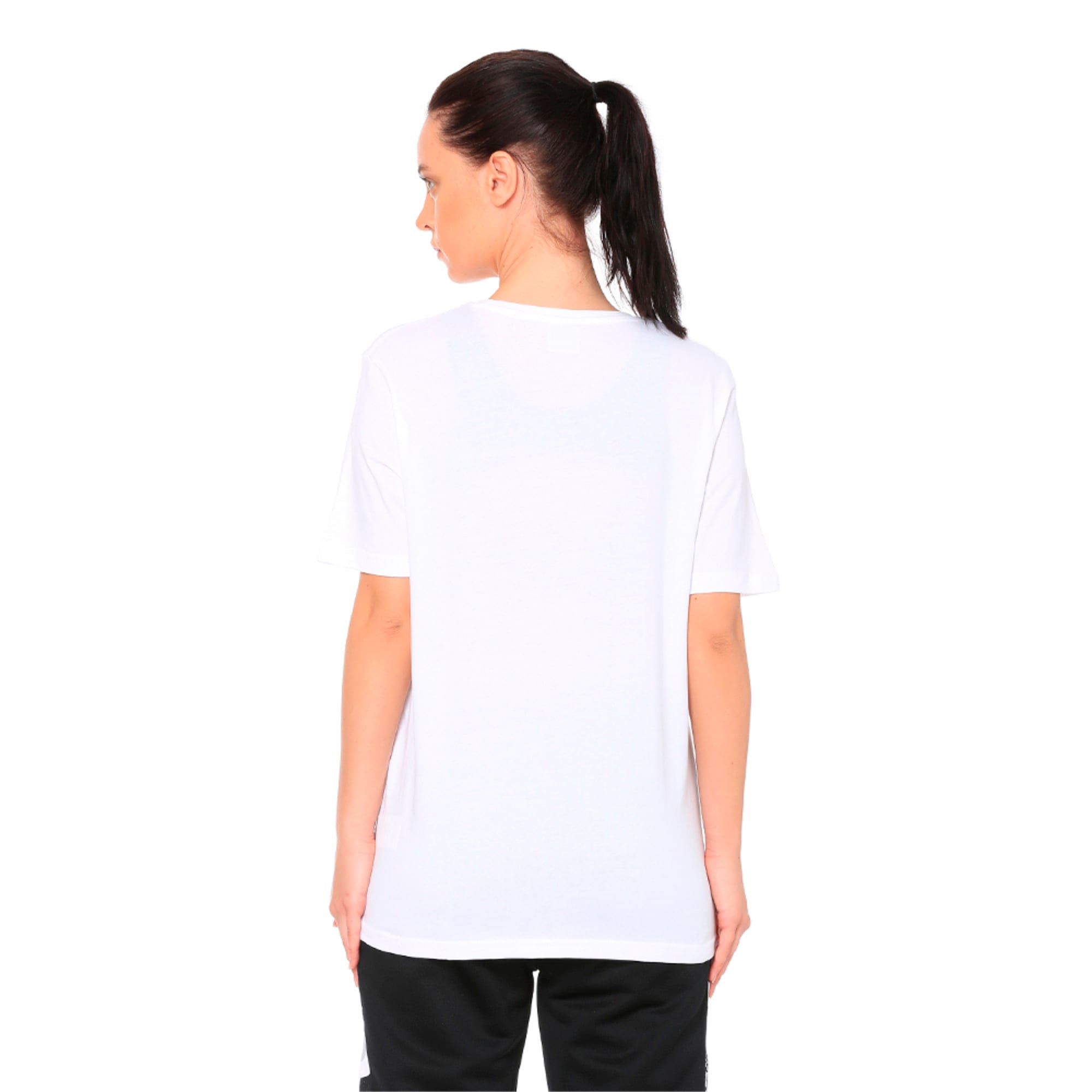 Women's Graphic T-shirt, Puma White, large-IND