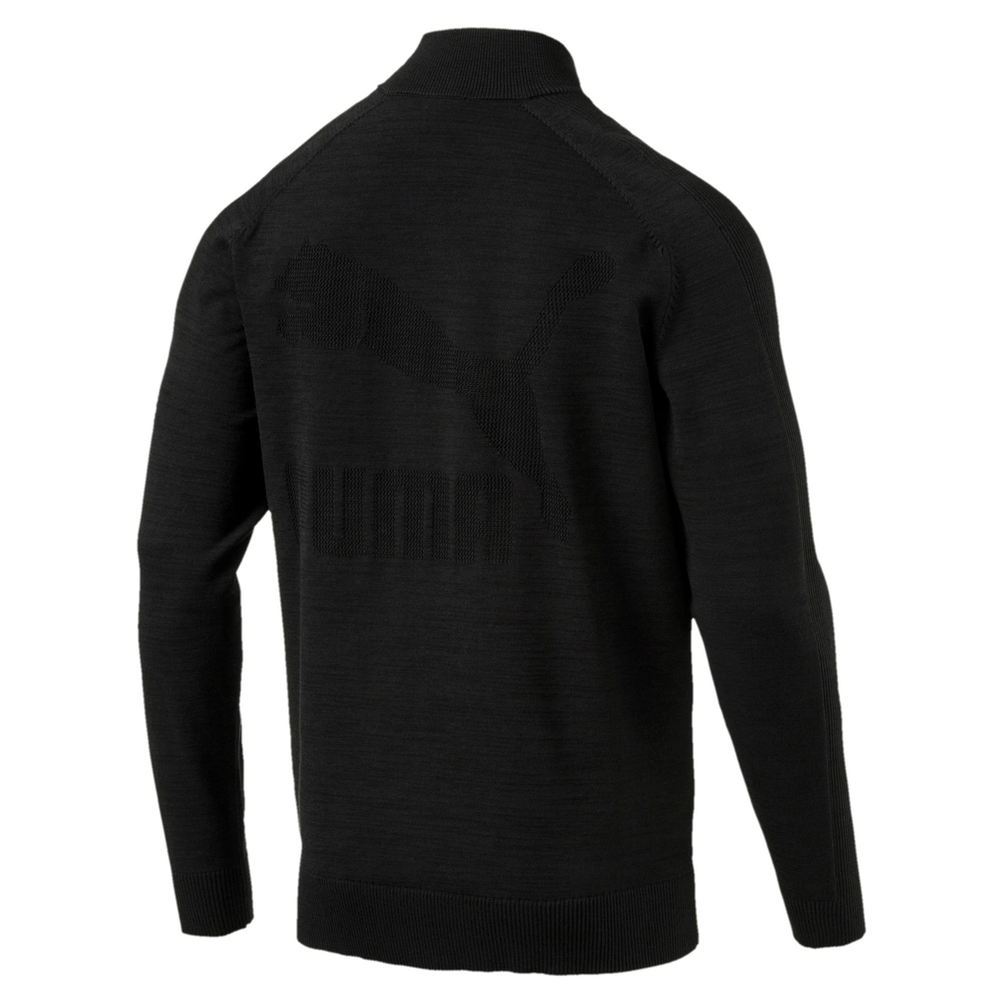 Thumbnail 3 of Men's T7 evoKnit Jacket, Puma Black, medium-IND