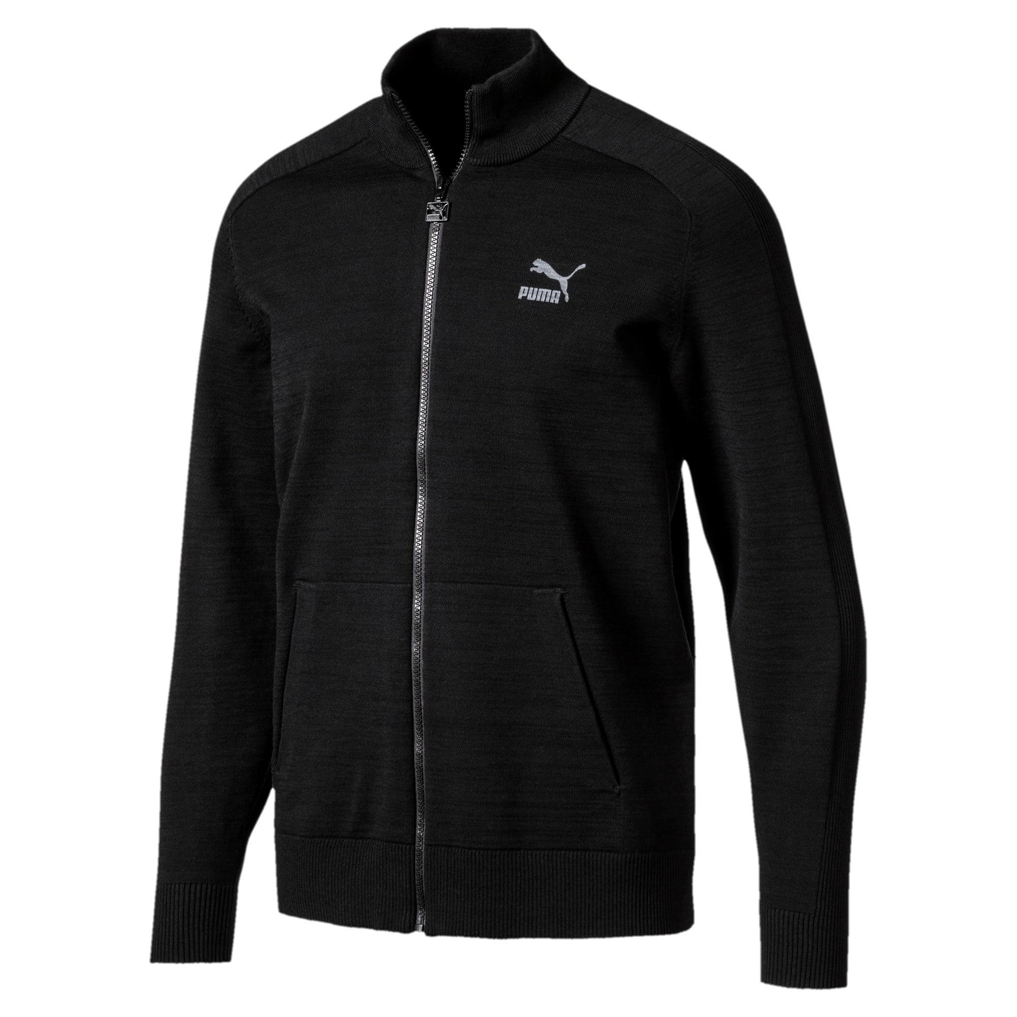 Thumbnail 2 of Men's T7 evoKnit Jacket, Puma Black, medium-IND
