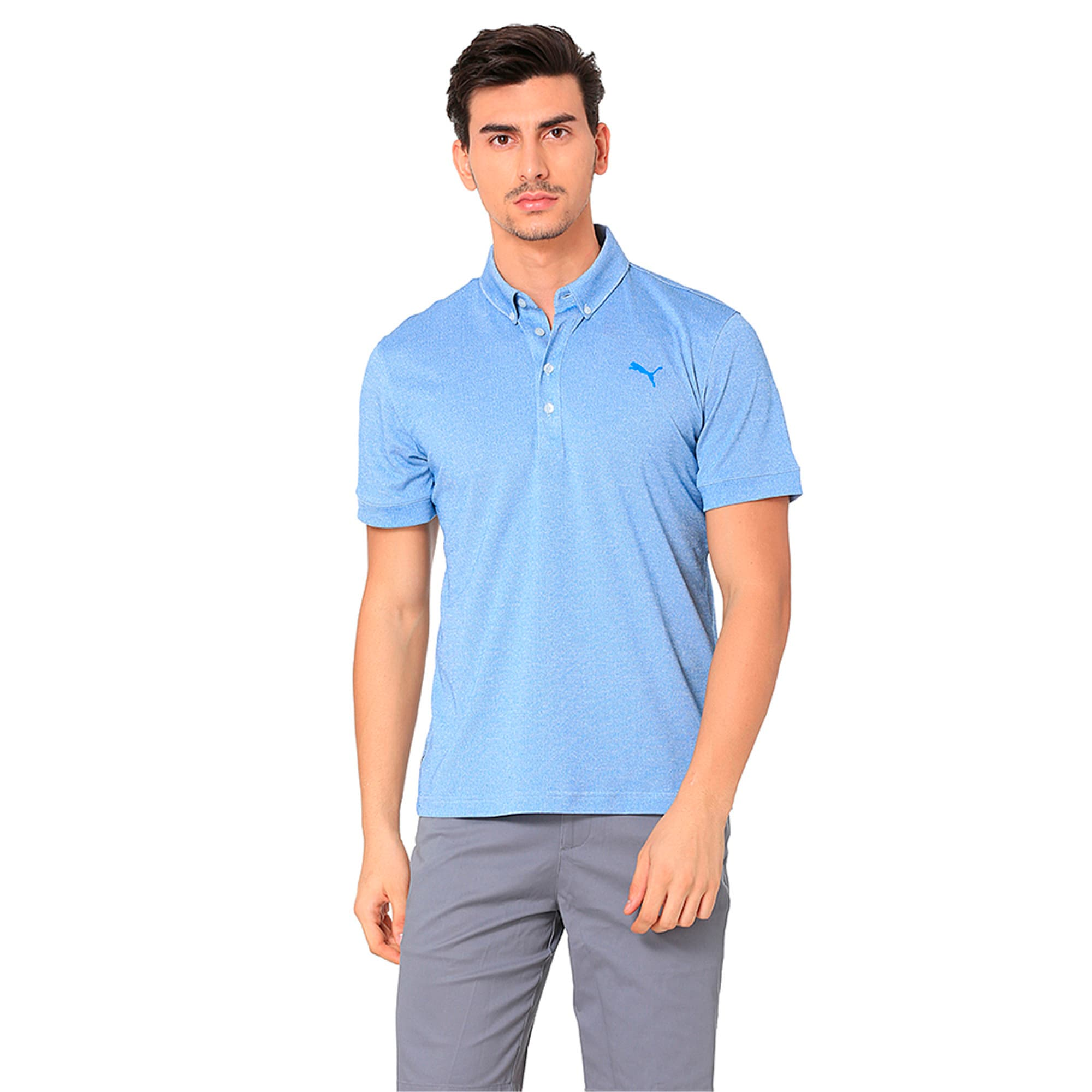 Thumbnail 2 of Golf Men's Tailored Oxford Heather Polo, EBL Heather, medium-IND