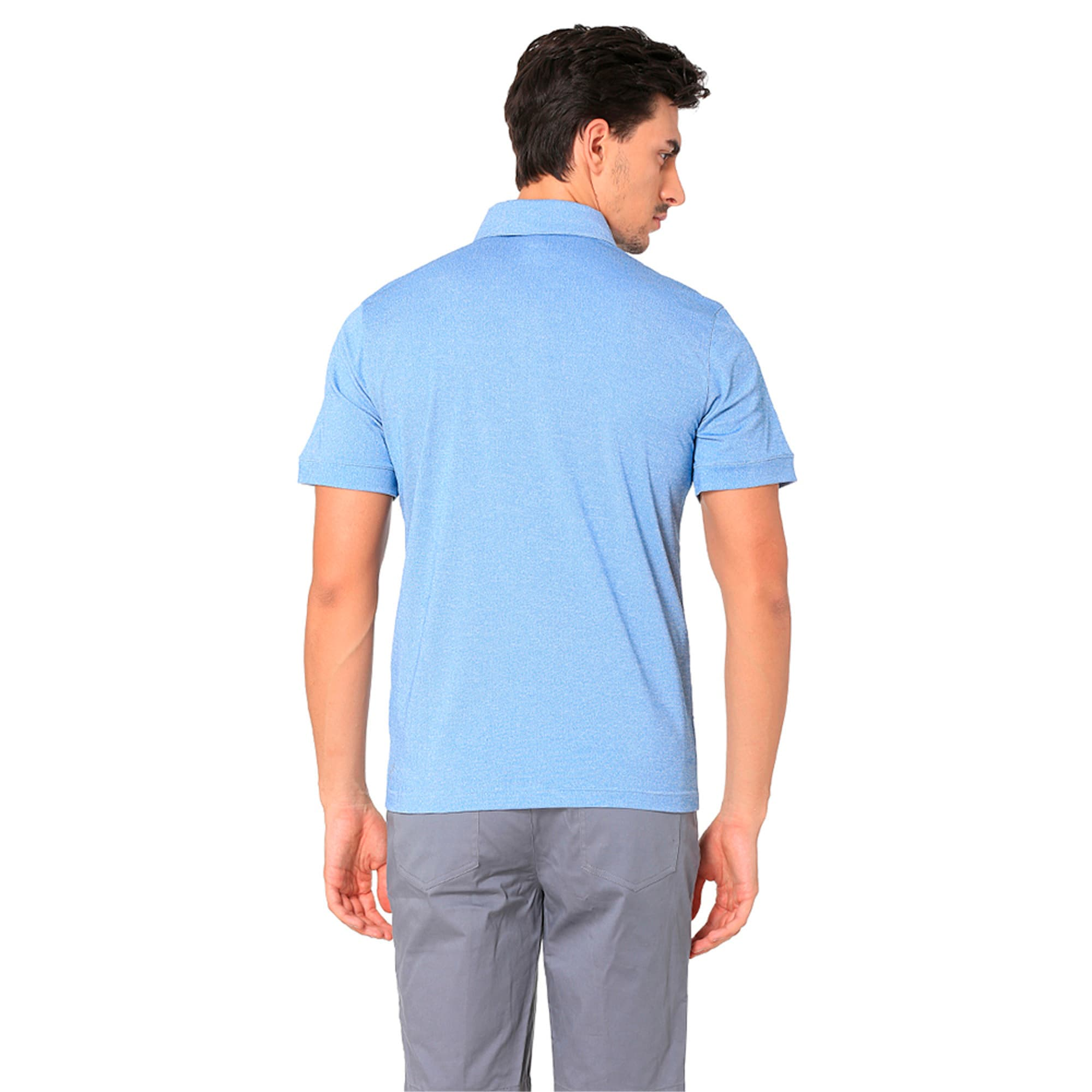 Thumbnail 3 of Golf Men's Tailored Oxford Heather Polo, EBL Heather, medium-IND