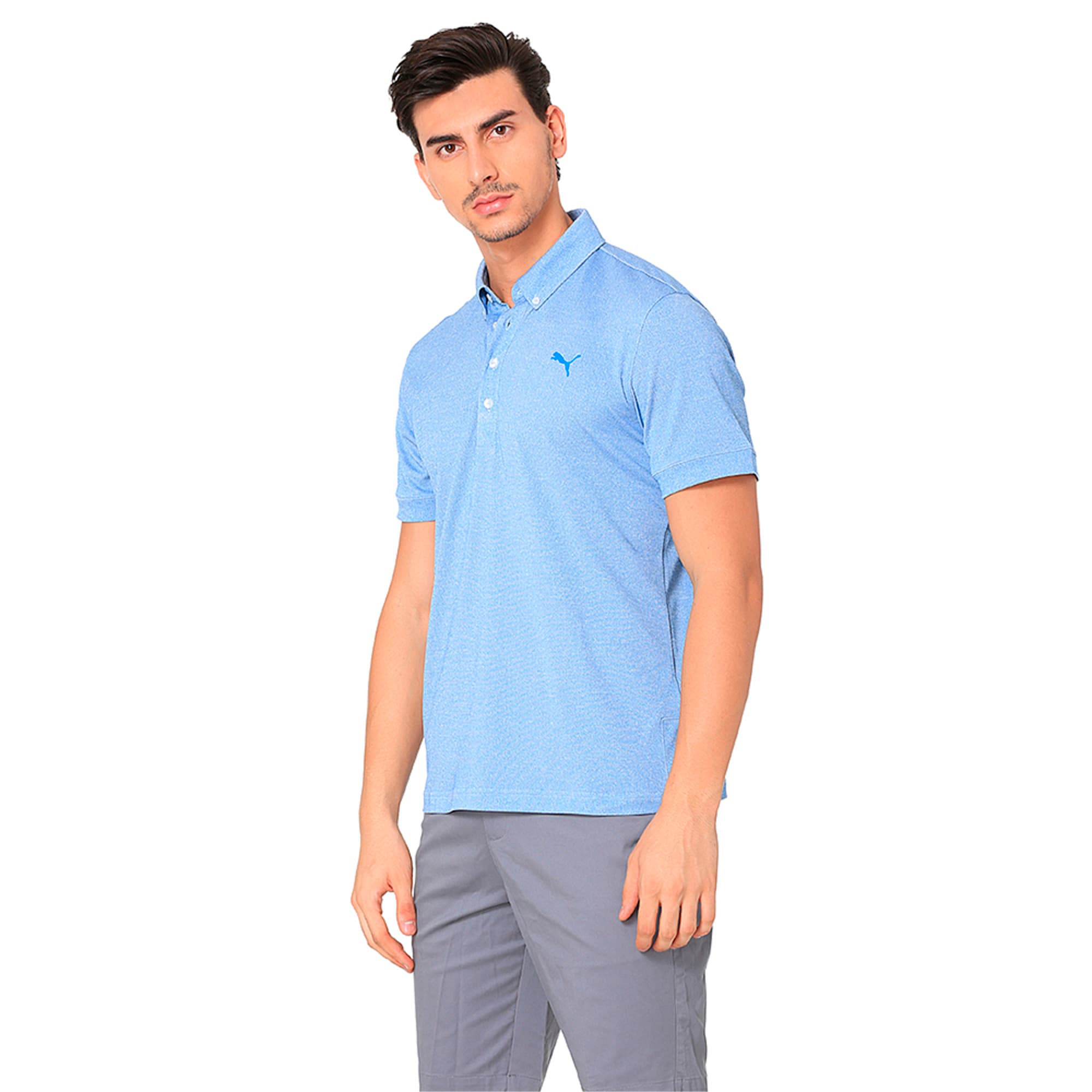 Thumbnail 4 of Golf Men's Tailored Oxford Heather Polo, EBL Heather, medium-IND