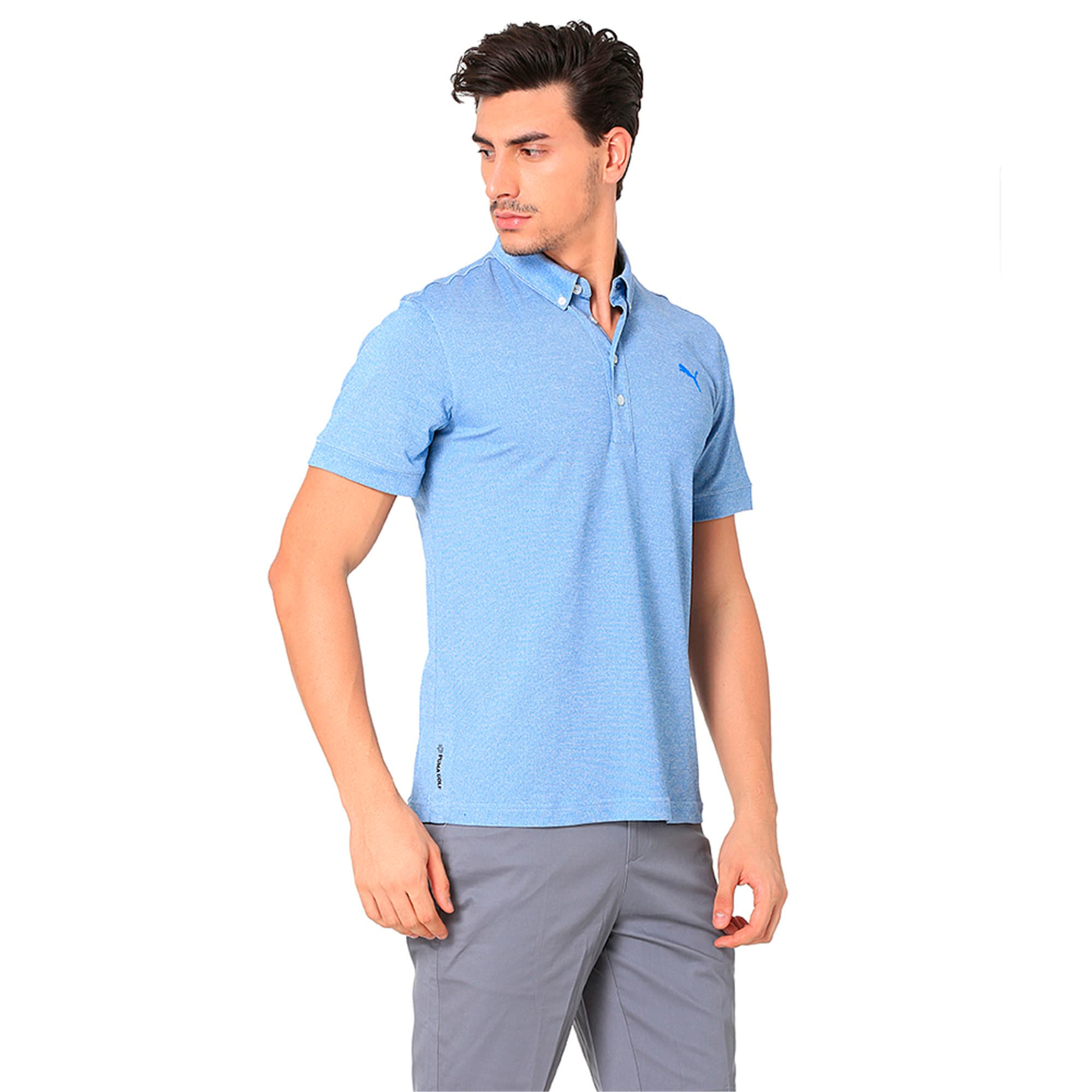 Thumbnail 5 of Golf Men's Tailored Oxford Heather Polo, EBL Heather, medium-IND