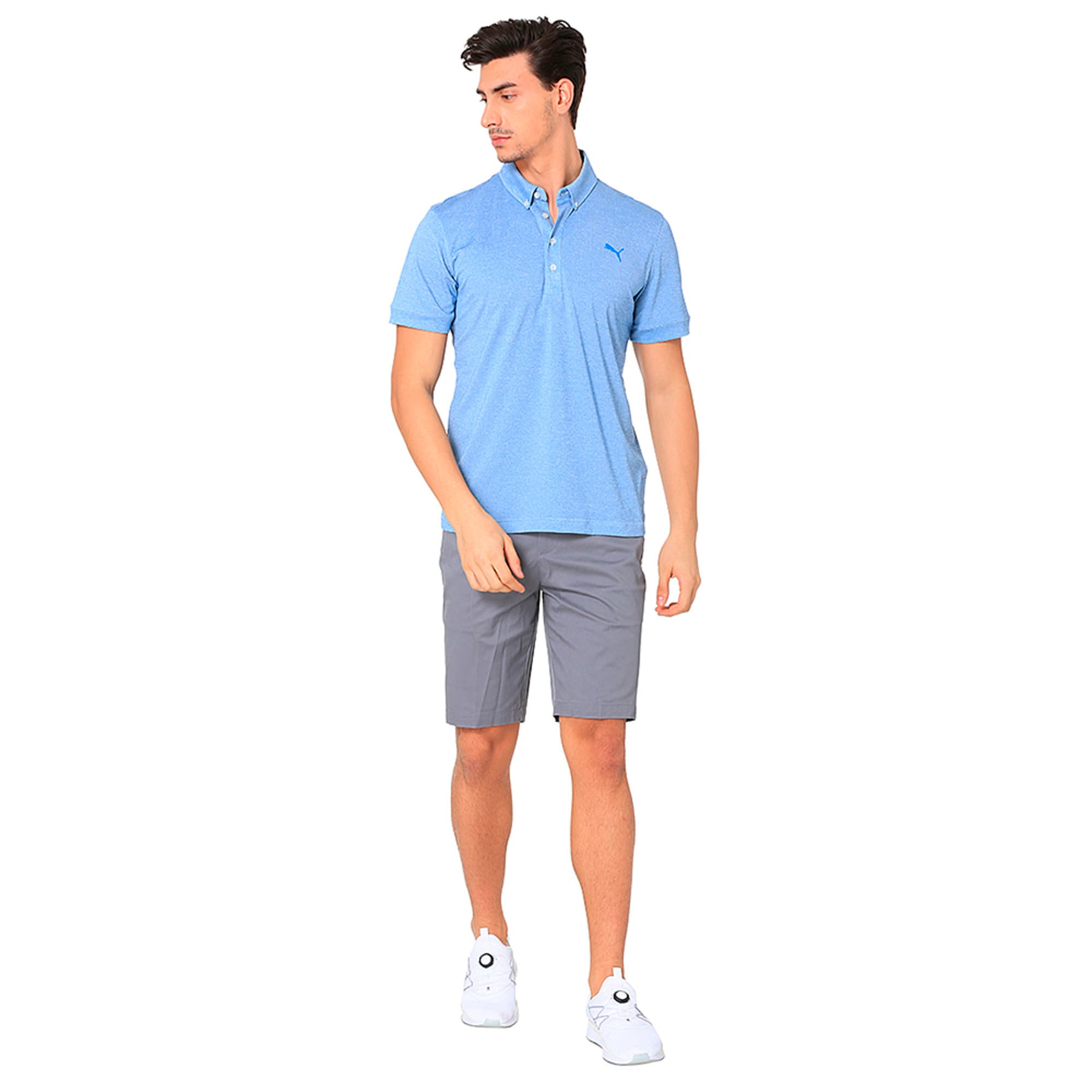 Thumbnail 6 of Golf Men's Tailored Oxford Heather Polo, EBL Heather, medium-IND