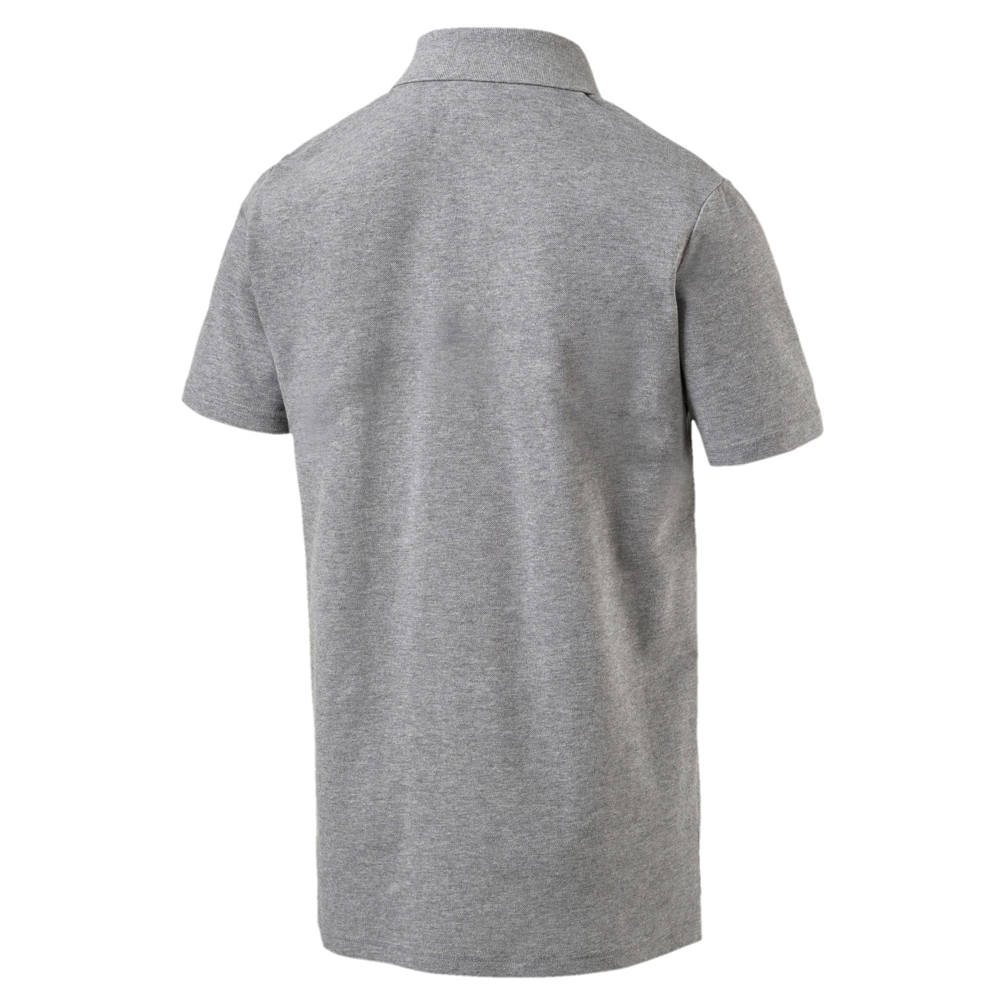 Thumbnail 4 of MERCEDES AMG PETRONAS Men's Polo, Medium Gray Heather, medium