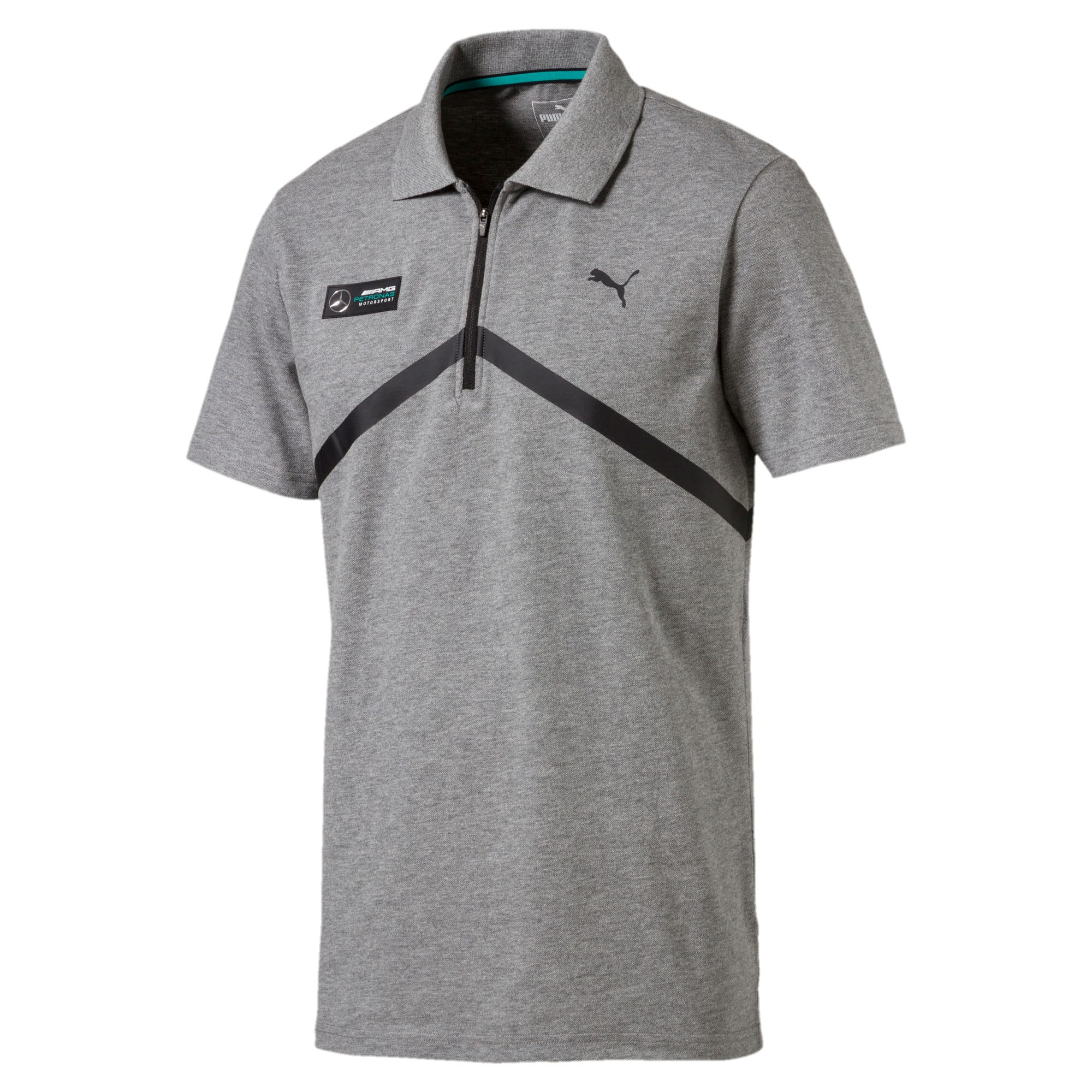 Thumbnail 1 of MERCEDES AMG PETRONAS Men's Polo, Medium Gray Heather, medium