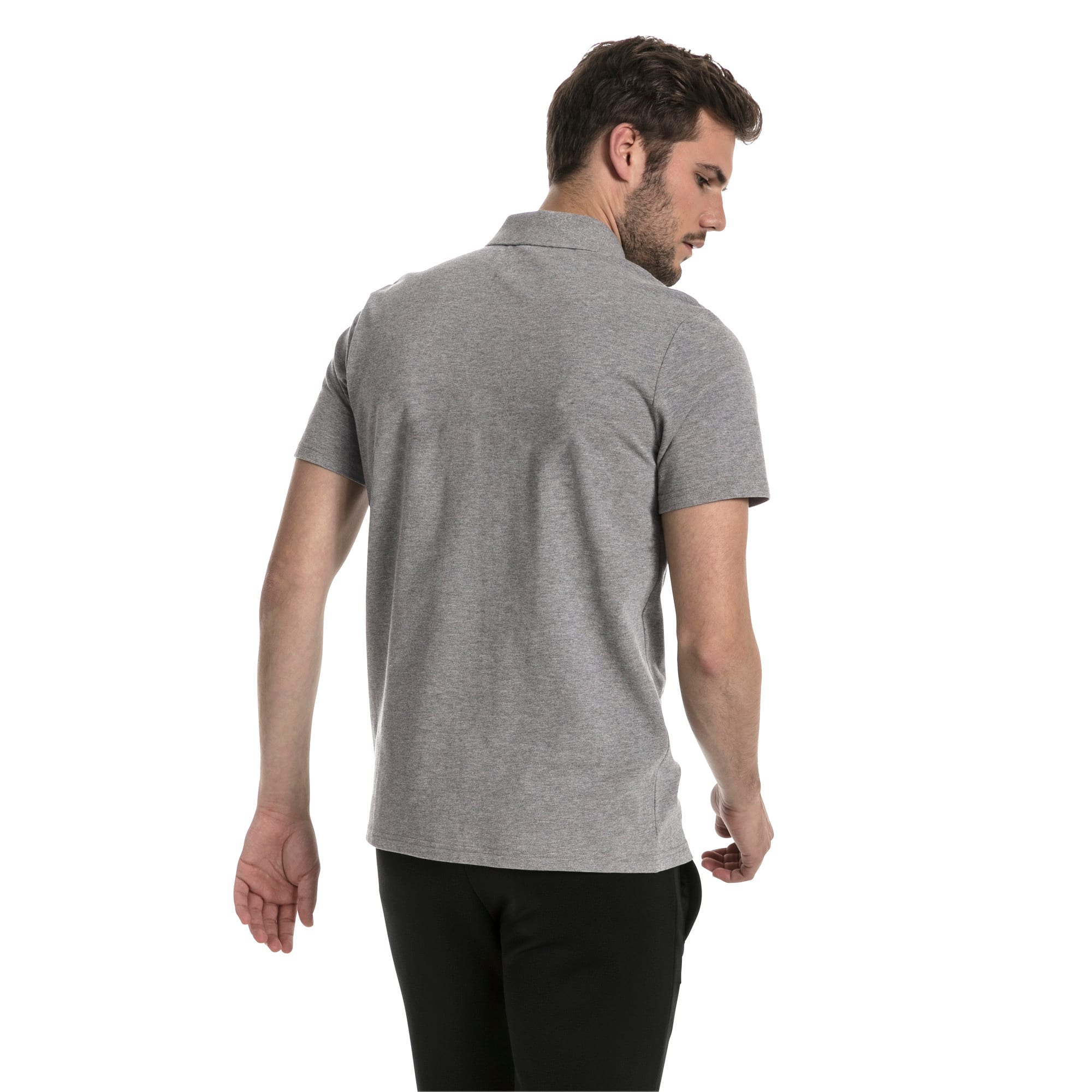 Thumbnail 3 of MERCEDES AMG PETRONAS Men's Polo, Medium Gray Heather, medium