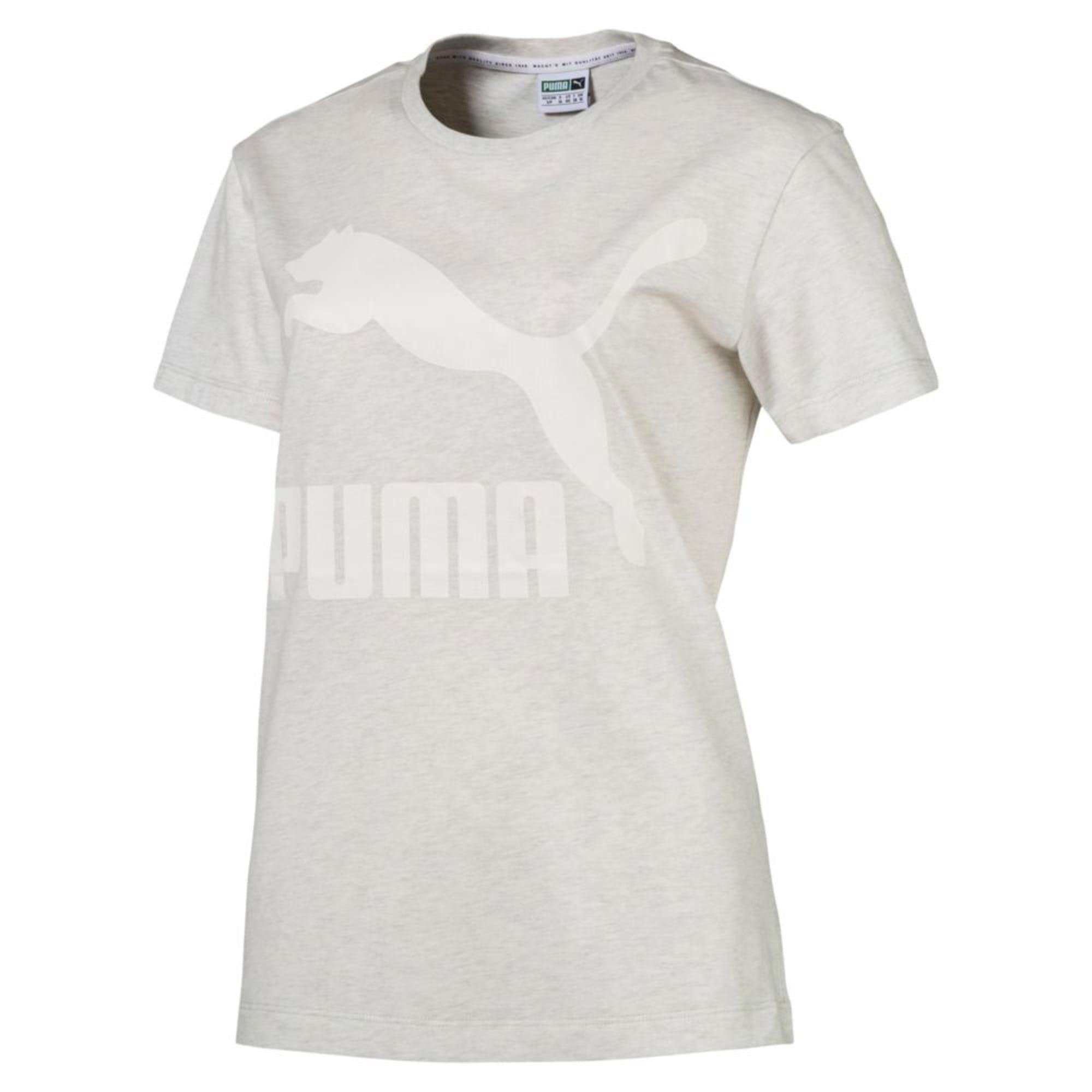 Thumbnail 4 of Classics Logo Women's T-Shirt, Puma White Heather-B1004, medium-IND