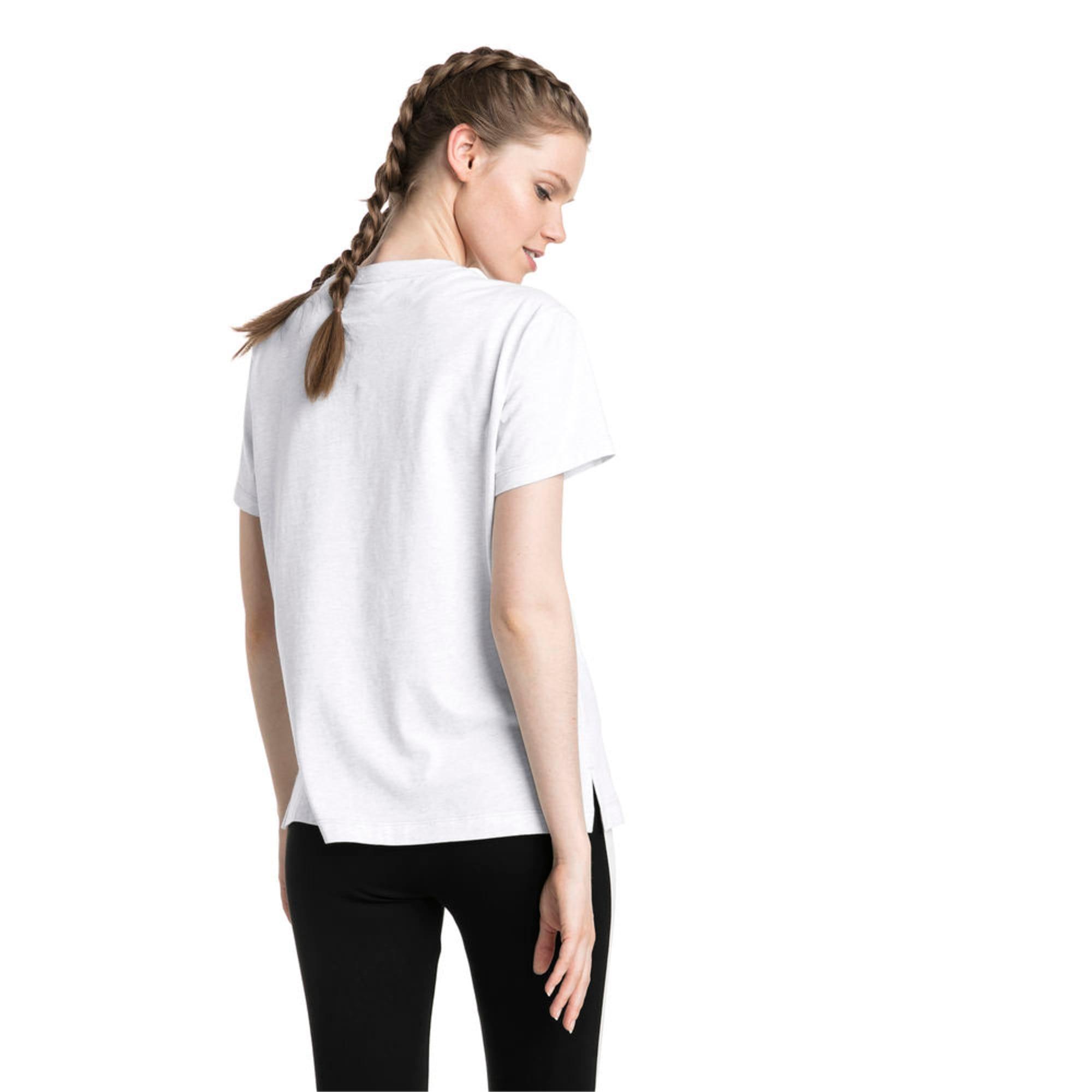 Thumbnail 1 of Classics Logo Women's T-Shirt, Puma White Heather-B1004, medium-IND