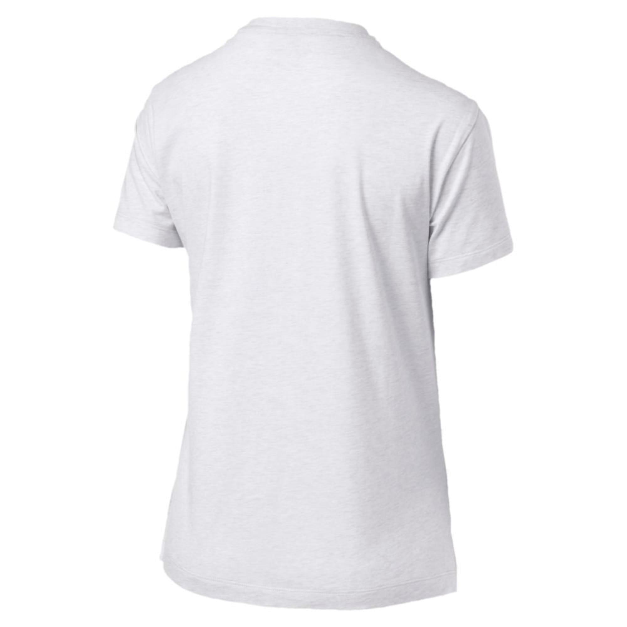 Thumbnail 2 of Classics Logo Women's T-Shirt, Puma White Heather-B1004, medium-IND