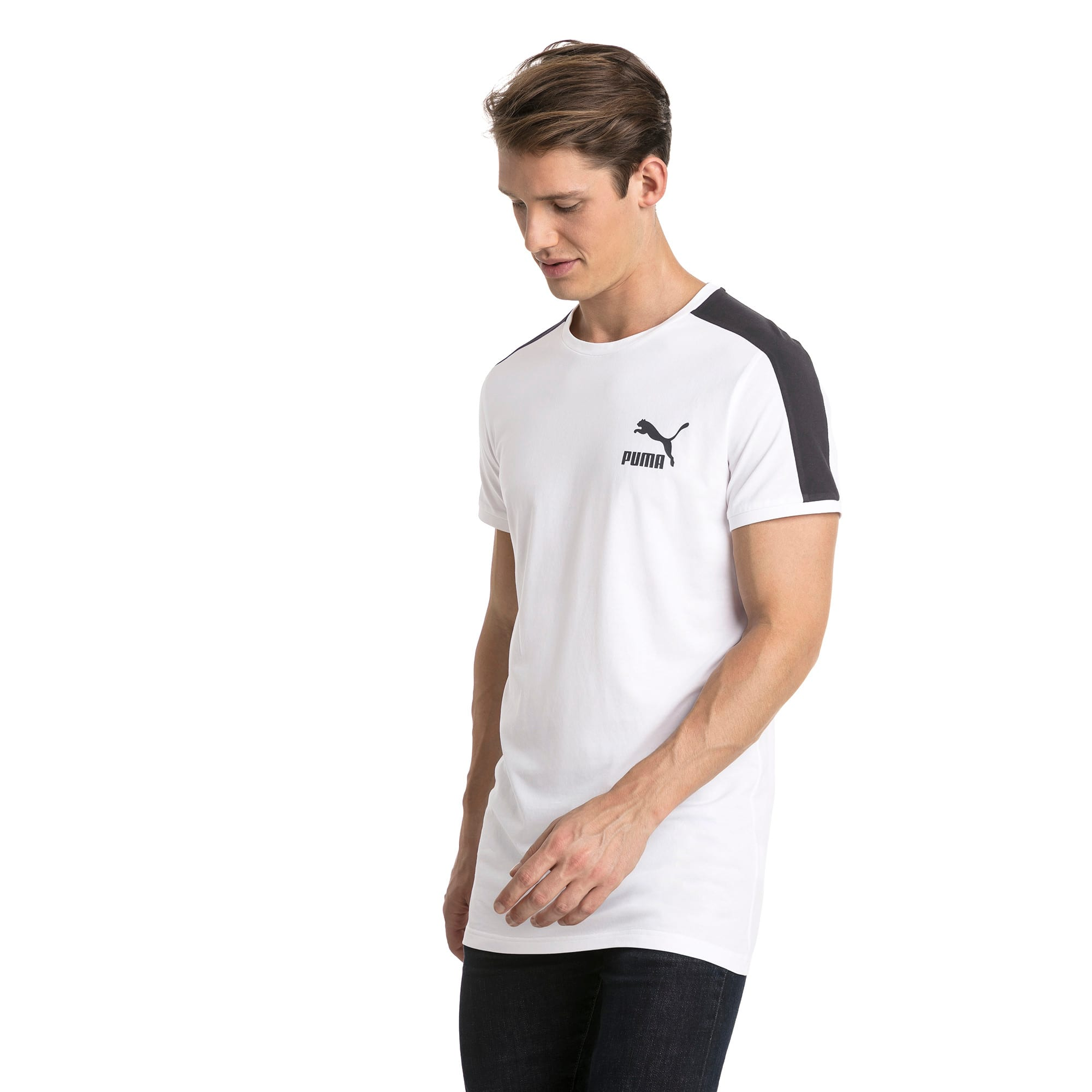 Thumbnail 2 of Classics Herren Slim T7 T-Shirt, Puma White, medium