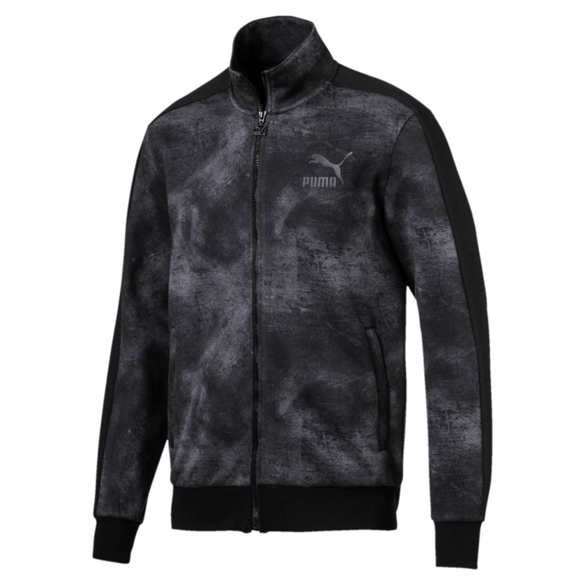 Thumbnail 1 of Classics All-Over Print T7 Men's Jacket, Puma Black-2, medium-IND