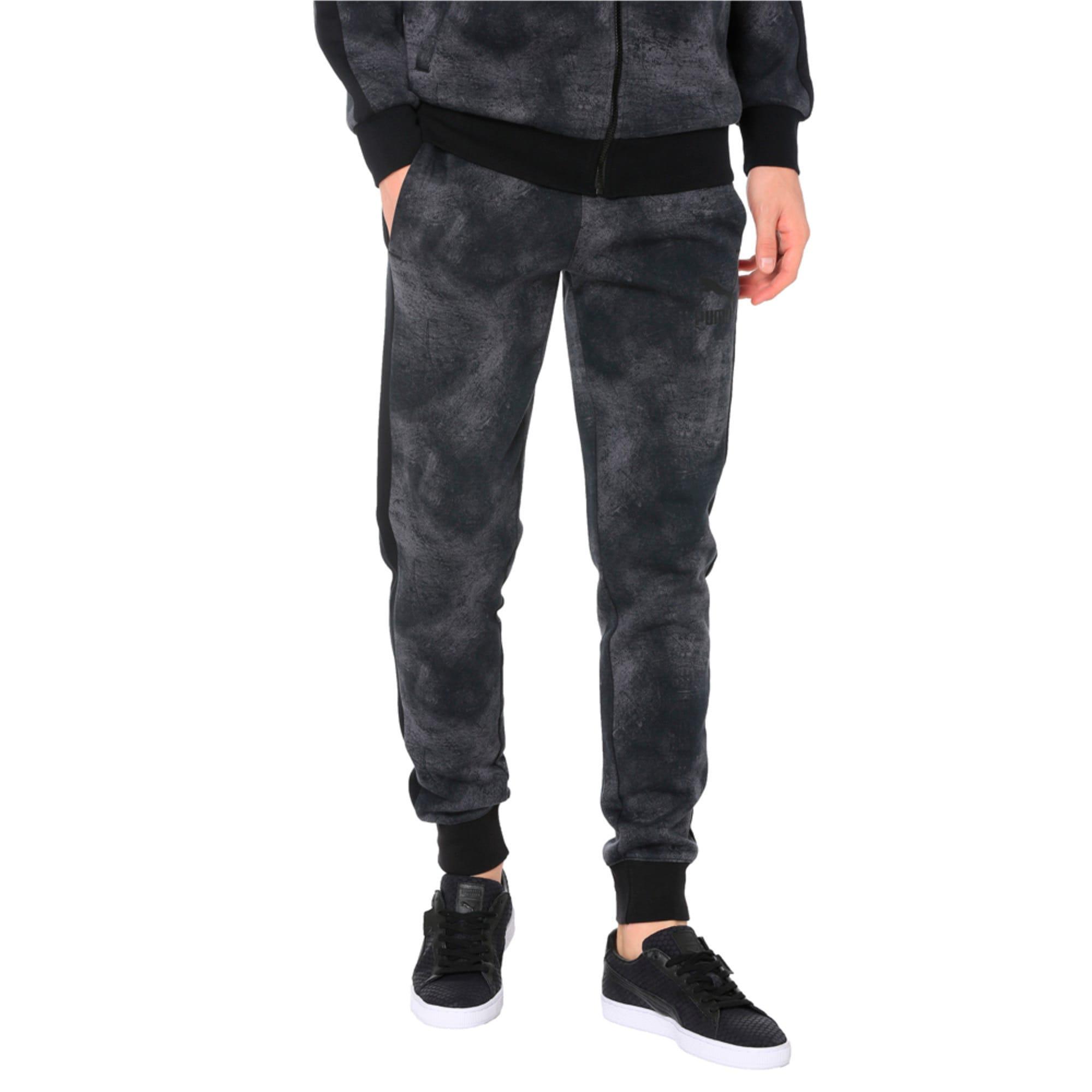 Thumbnail 2 of Classics All-Over Print T7 Men's Pants, Puma Black-3, medium-IND