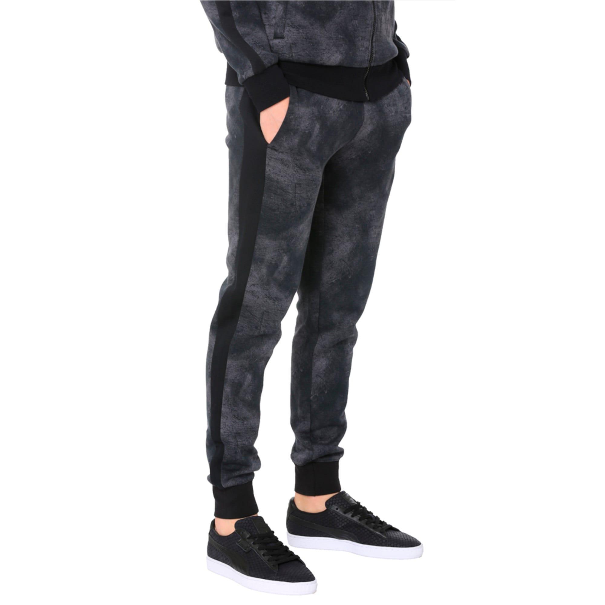 Thumbnail 3 of Classics All-Over Print T7 Men's Pants, Puma Black-3, medium-IND