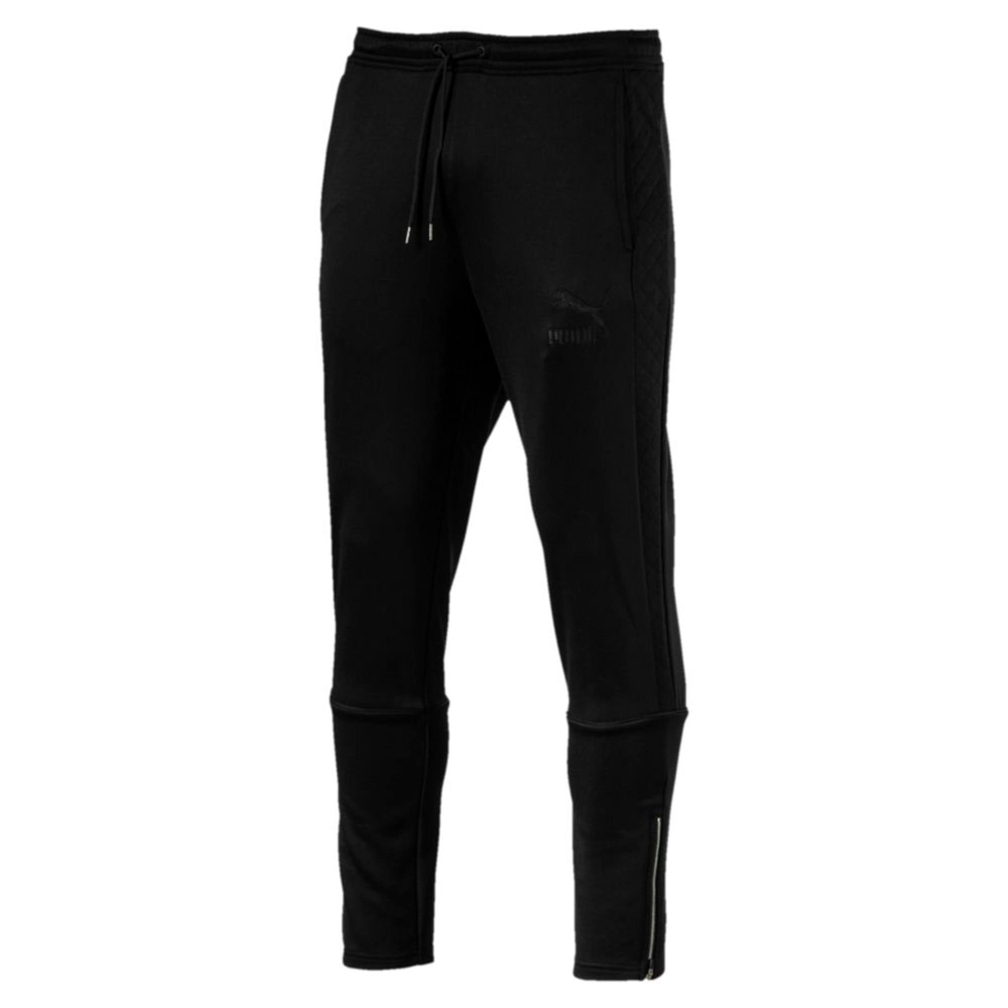 Thumbnail 3 of Archive Retro Quilted Men's Sweatpants, Puma Black, medium-IND
