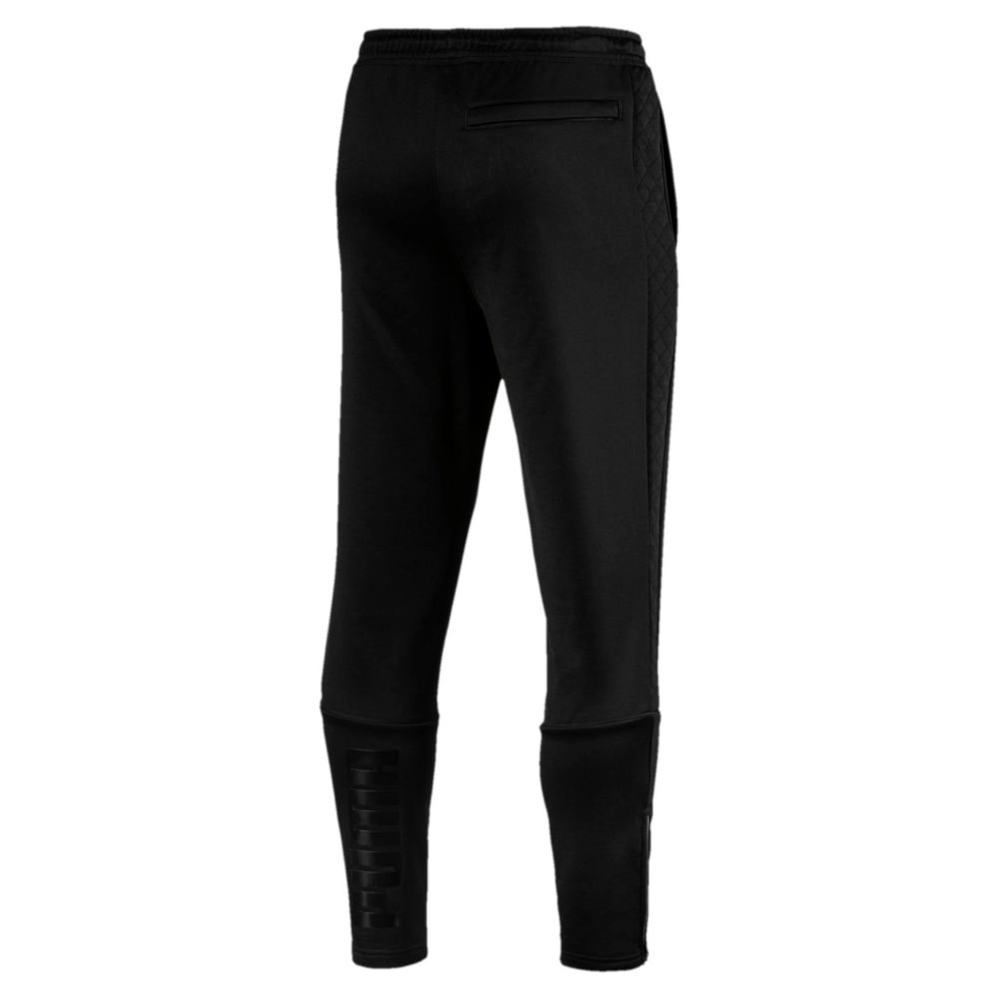 Thumbnail 2 of Archive Retro Quilted Men's Sweatpants, Puma Black, medium-IND