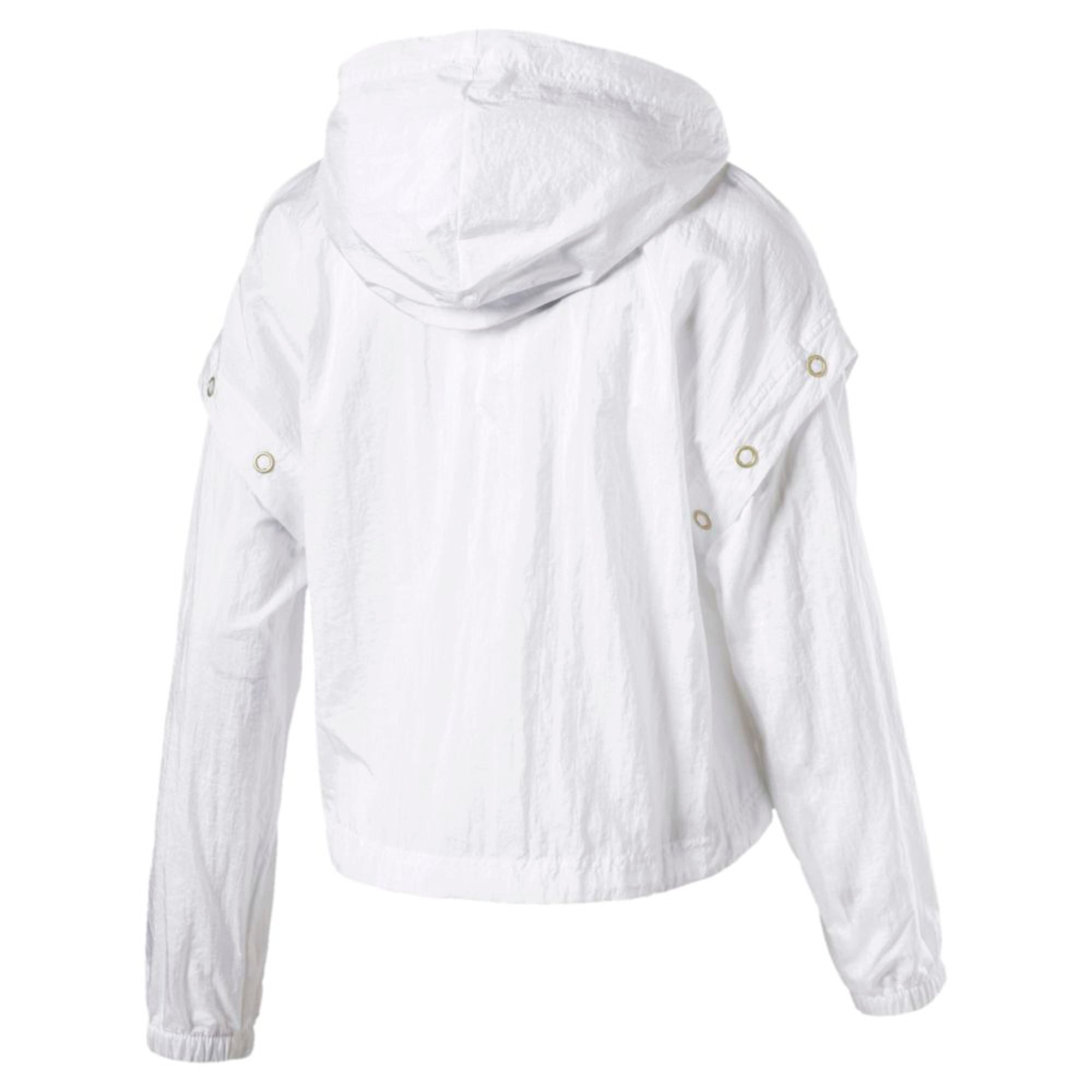 Thumbnail 2 of Retro Windrunner Zip-Up Women's Hooded Jacket, Puma White, medium-IND