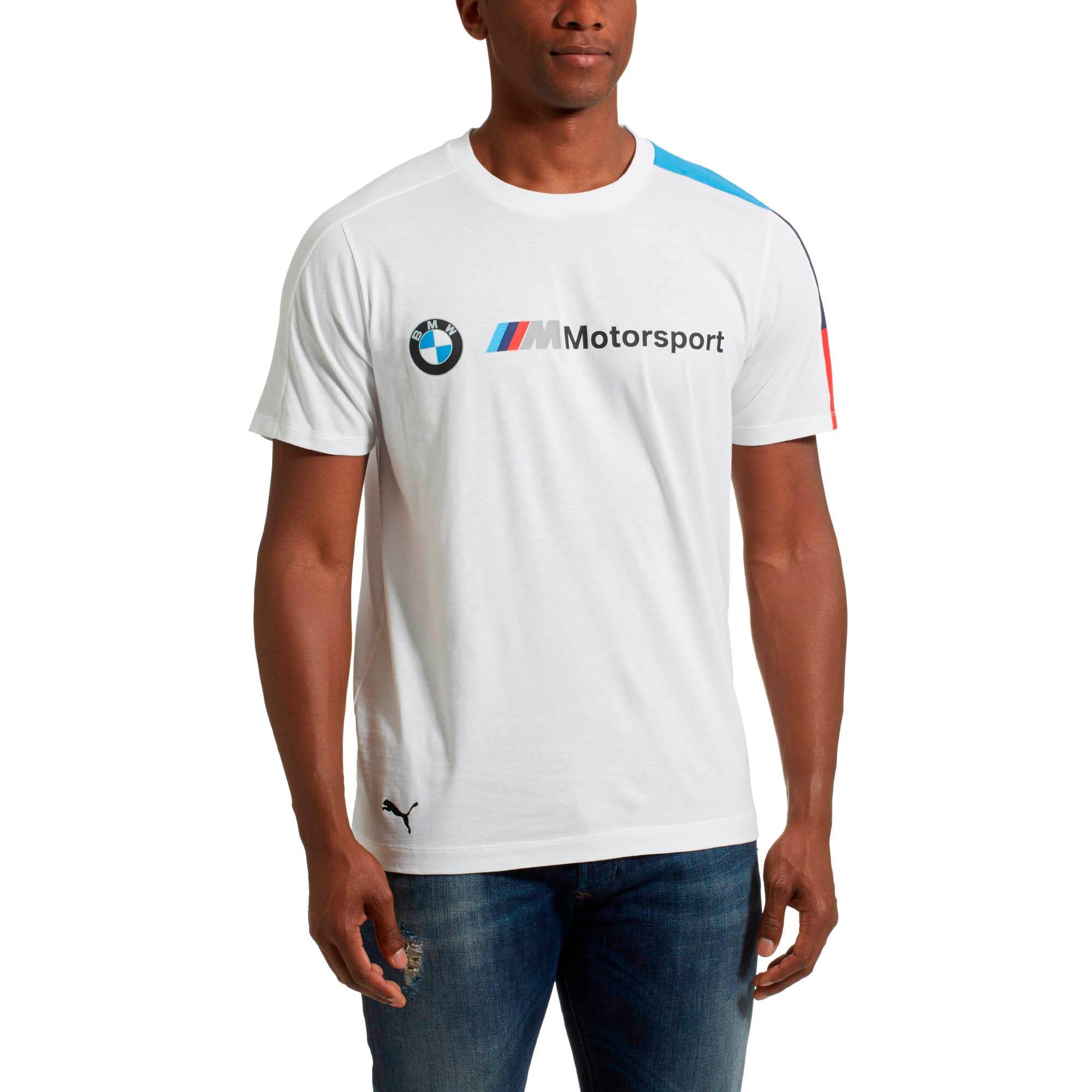 Thumbnail 2 of BMW M Motorsport Men's T7 Tee, Puma White, medium