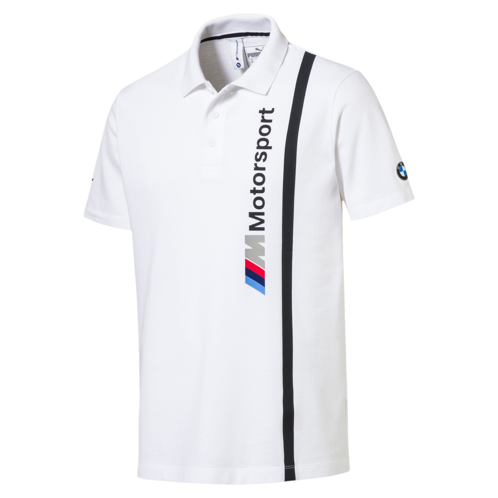 Thumbnail 3 of BMW M Motorsport Men's Polo, Puma White, medium-IND