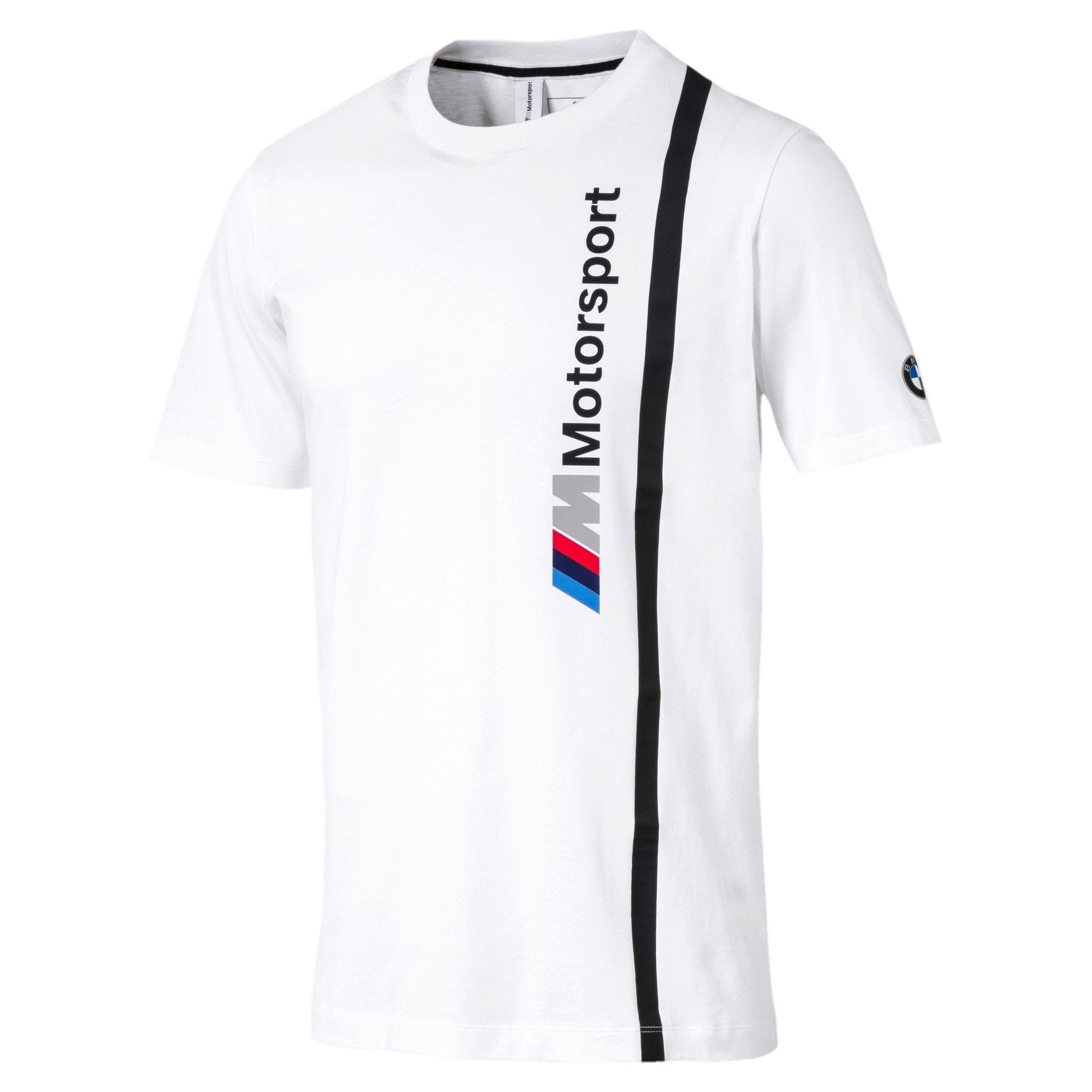 Thumbnail 3 of BMW M Motorsport Men's Logo T-Shirt, Puma White, medium-IND