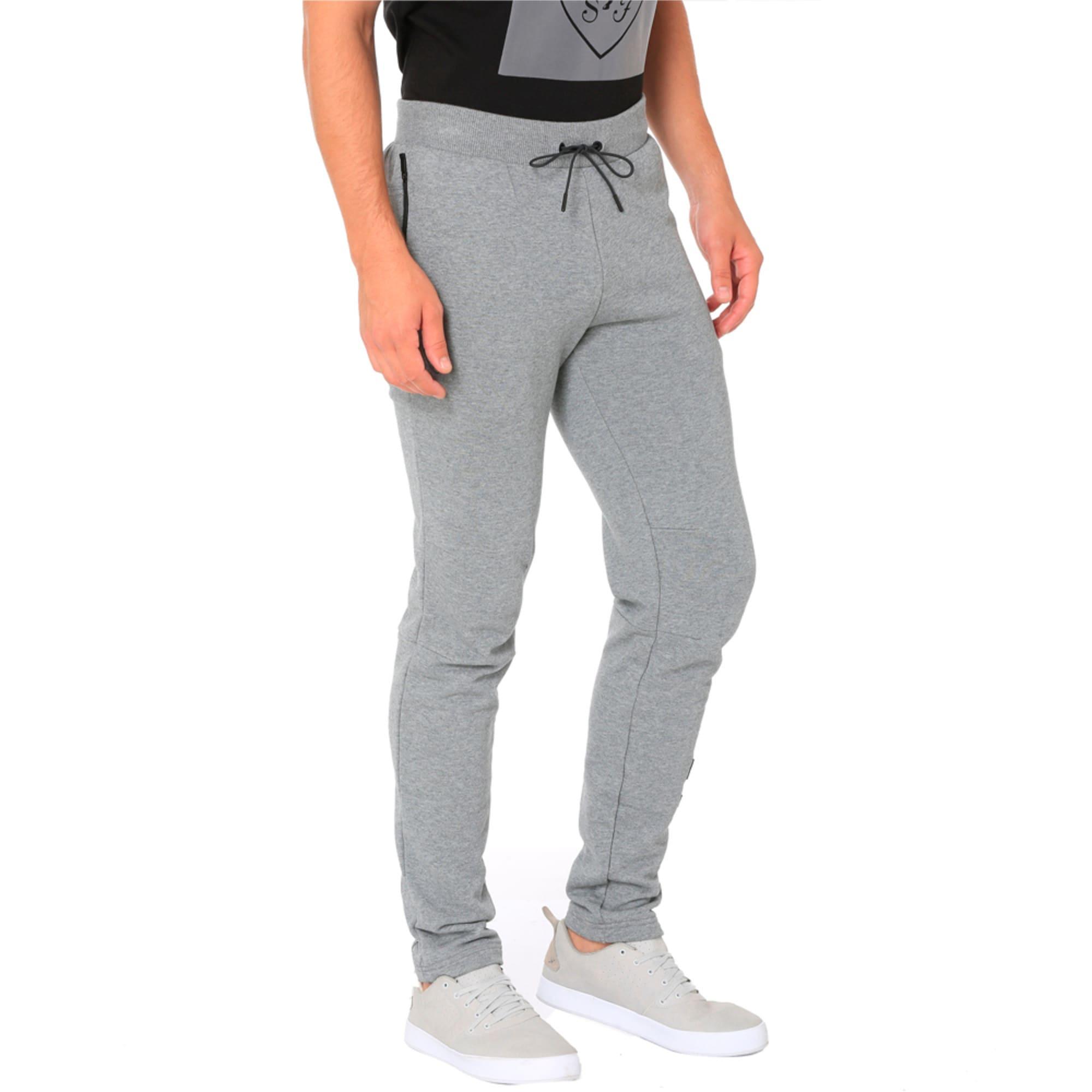 Thumbnail 5 of Ferrari Lifestyle Men's Sweatpants, Medium Gray Heather, medium-IND