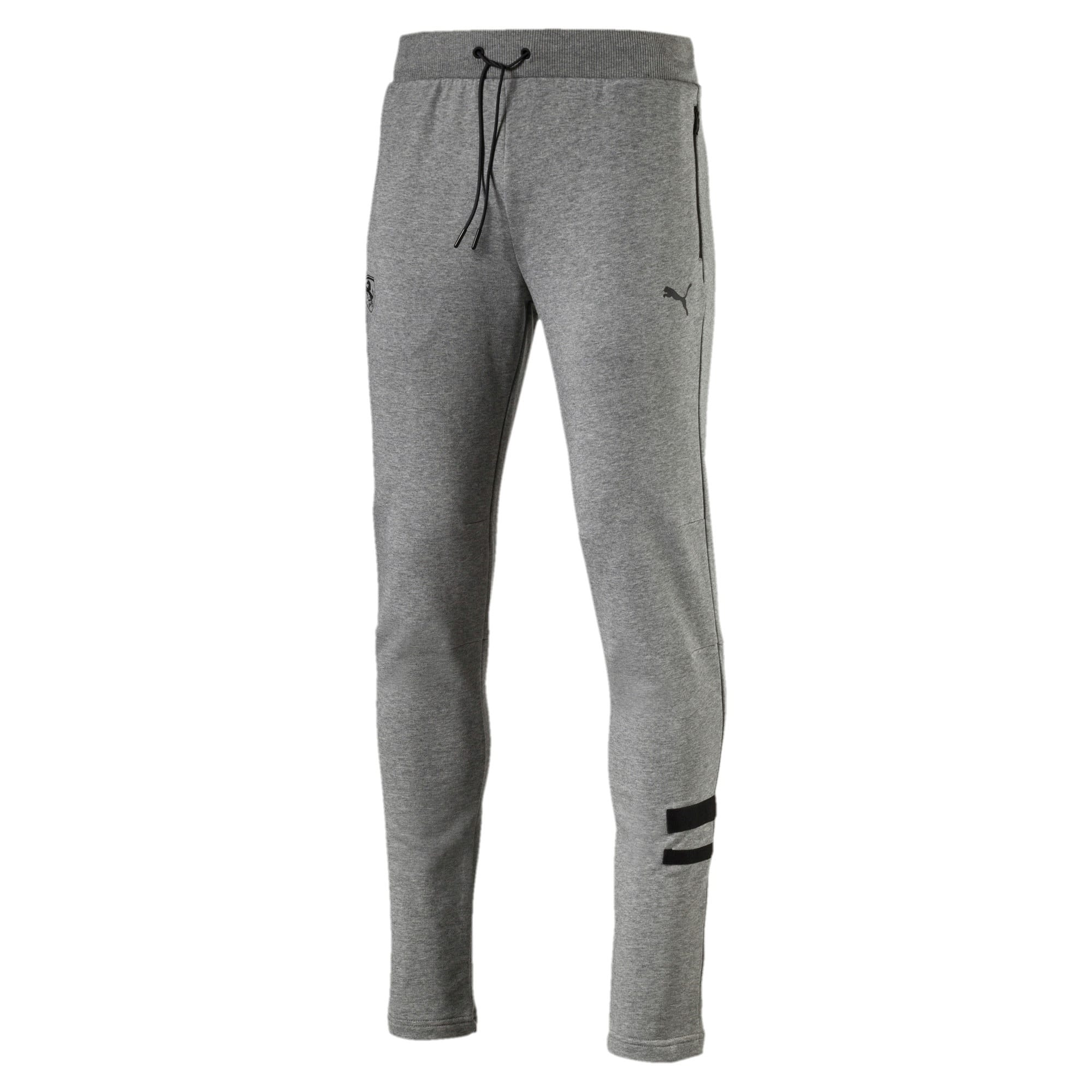 Thumbnail 4 of Ferrari Lifestyle Men's Sweatpants, Medium Gray Heather, medium-IND