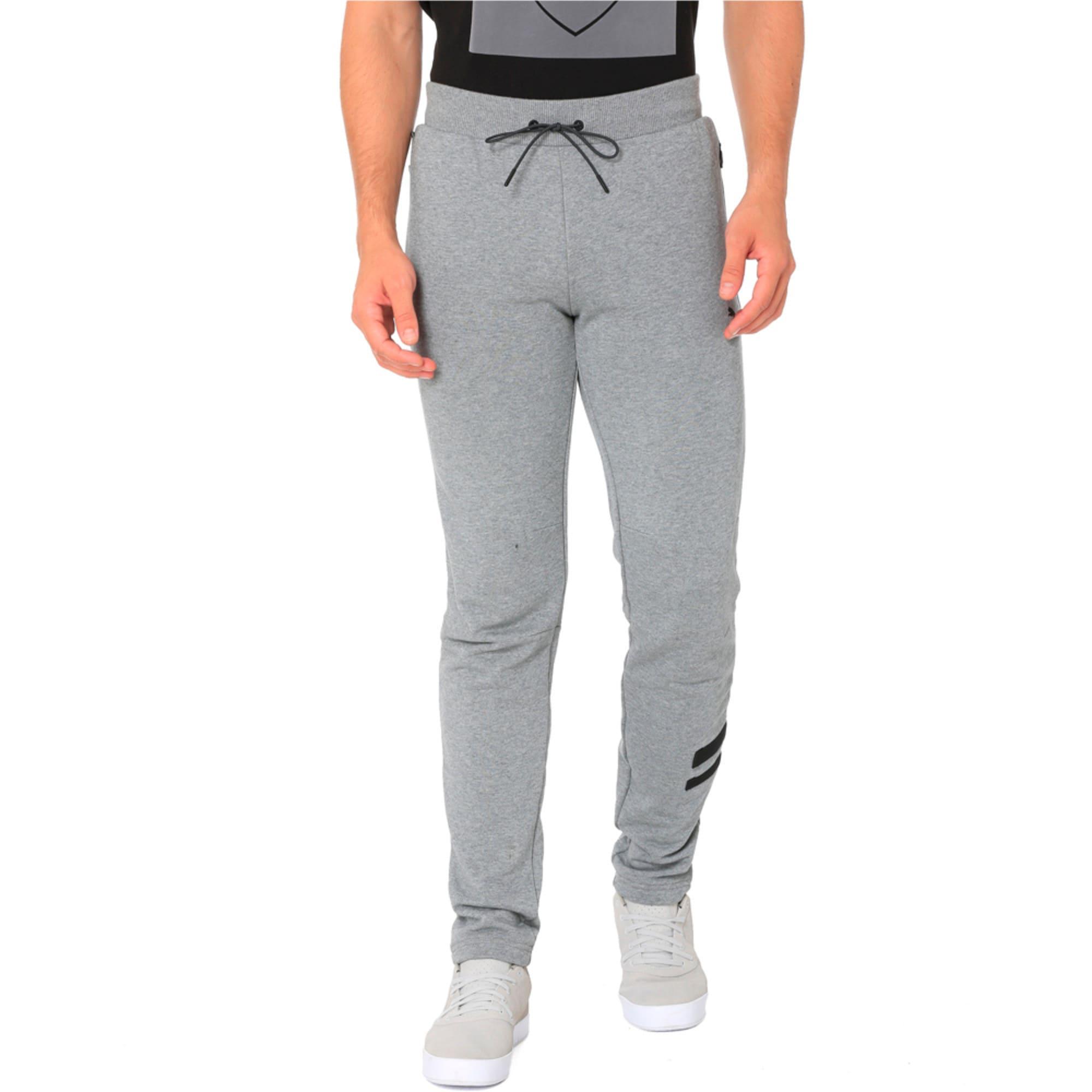 Thumbnail 1 of Ferrari Lifestyle Men's Sweatpants, Medium Gray Heather, medium-IND