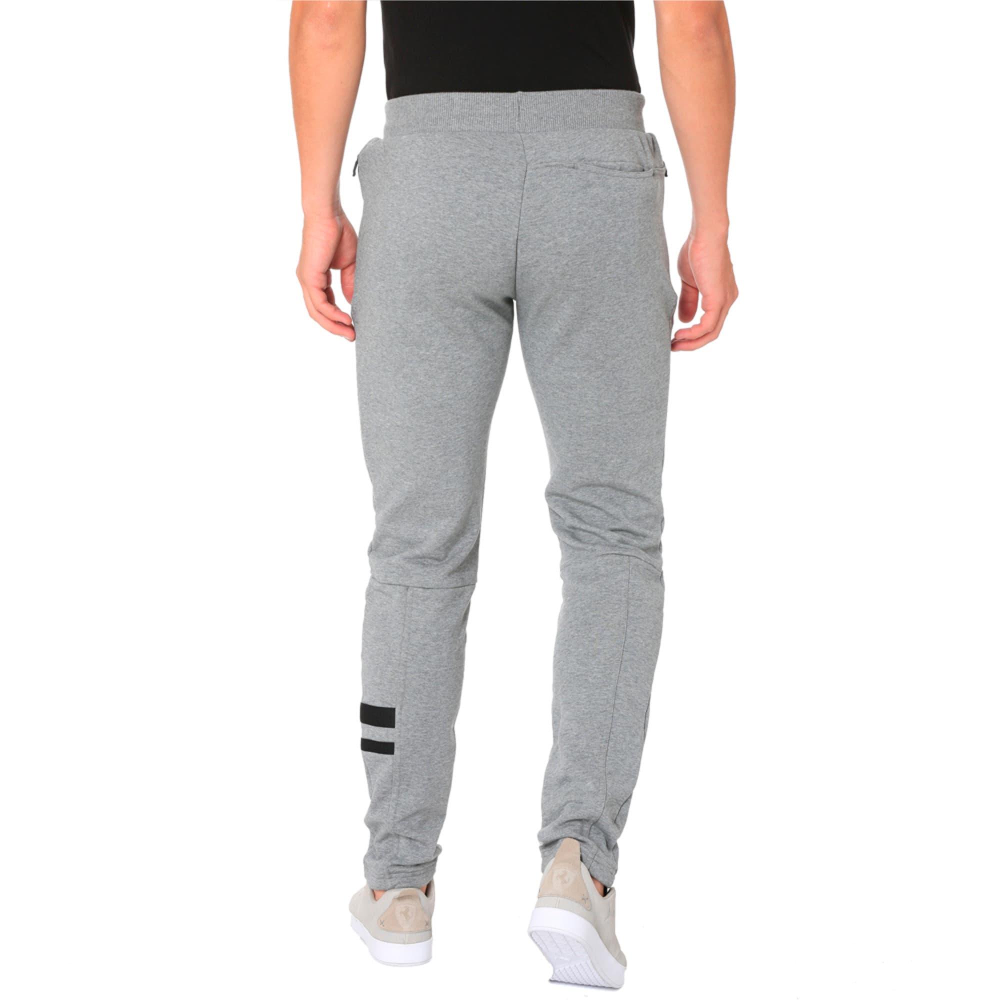 Thumbnail 2 of Ferrari Lifestyle Men's Sweatpants, Medium Gray Heather, medium-IND
