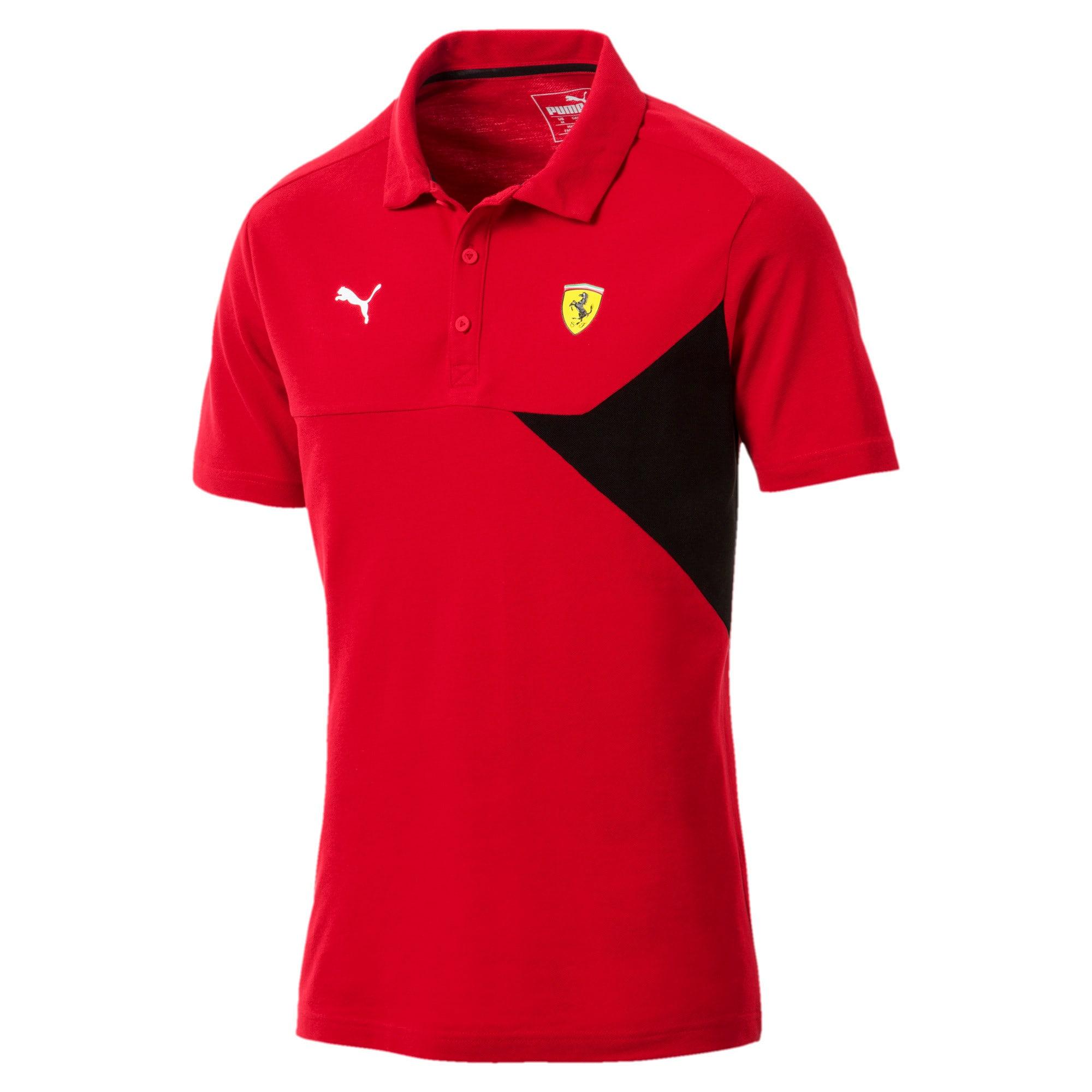 Thumbnail 4 of Ferrari Men's Polo, Rosso Corsa, medium-IND