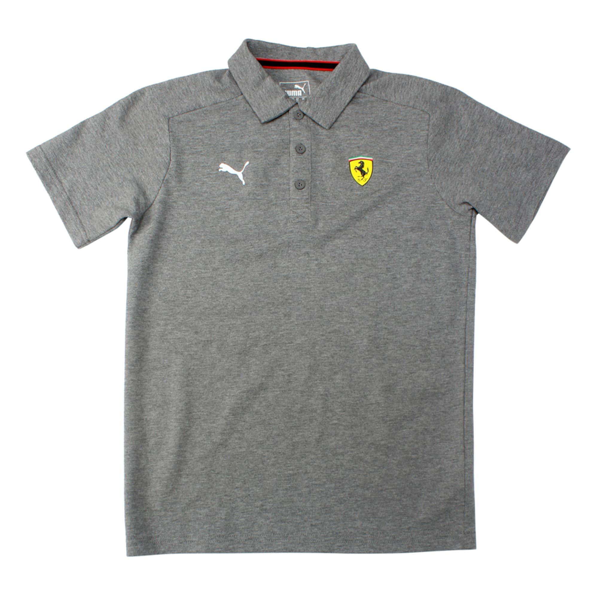Thumbnail 1 of SF Kids Polo Rosso Corsa, Medium Gray Heather, medium-IND