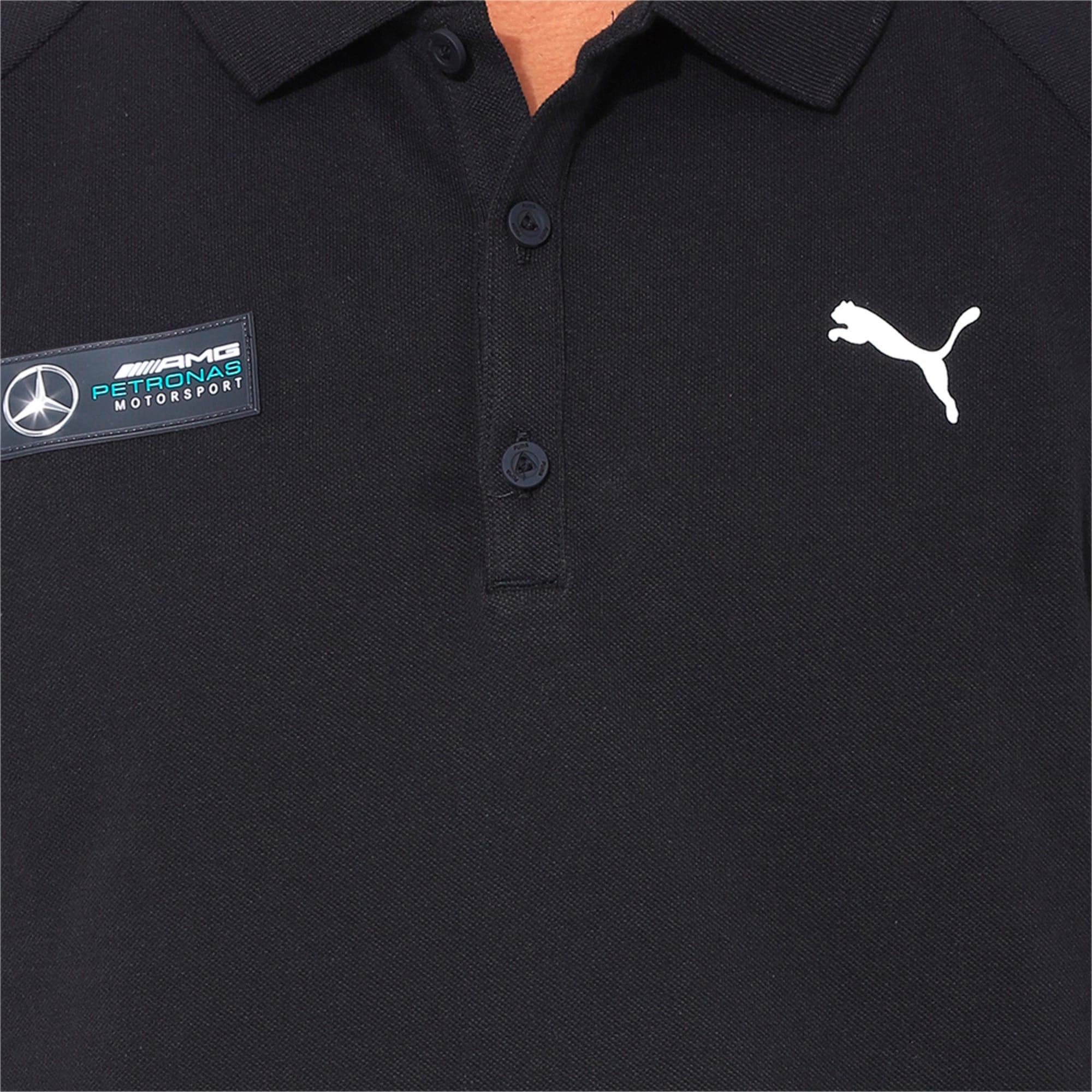 Thumbnail 6 of MERCEDES AMG PETRONAS Men's Polo, Puma Black, medium-IND