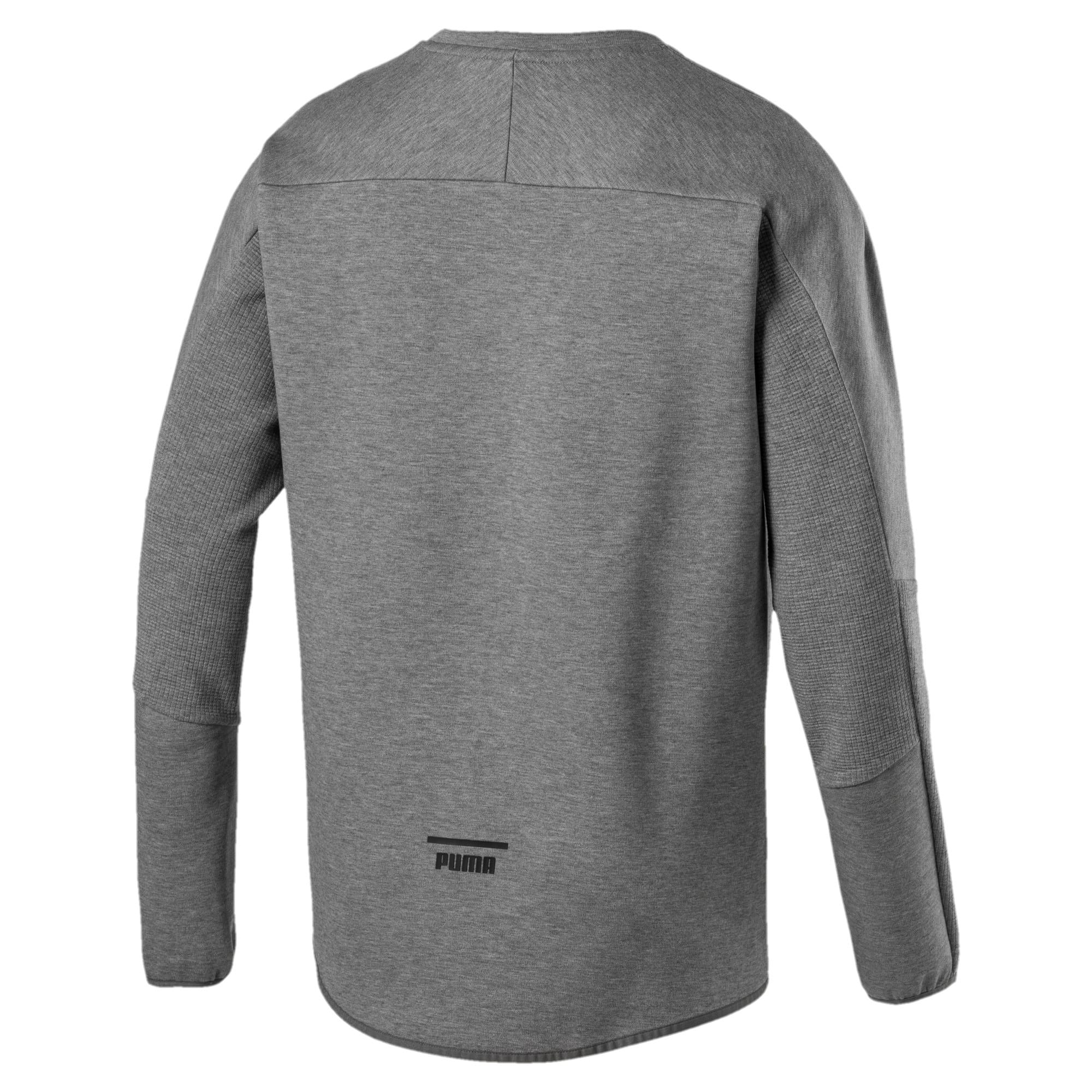 Thumbnail 4 of Pace Crew Neck Men's Sweatshirt, Medium Gray Heather, medium-IND