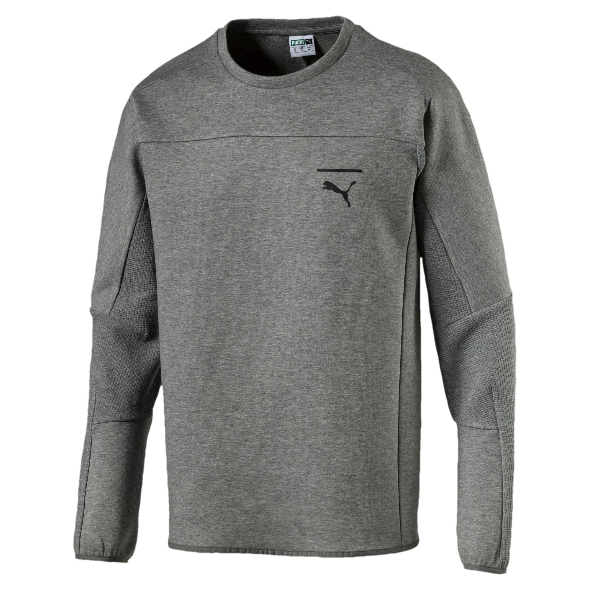 Thumbnail 3 of Pace Crew Neck Men's Sweatshirt, Medium Gray Heather, medium-IND