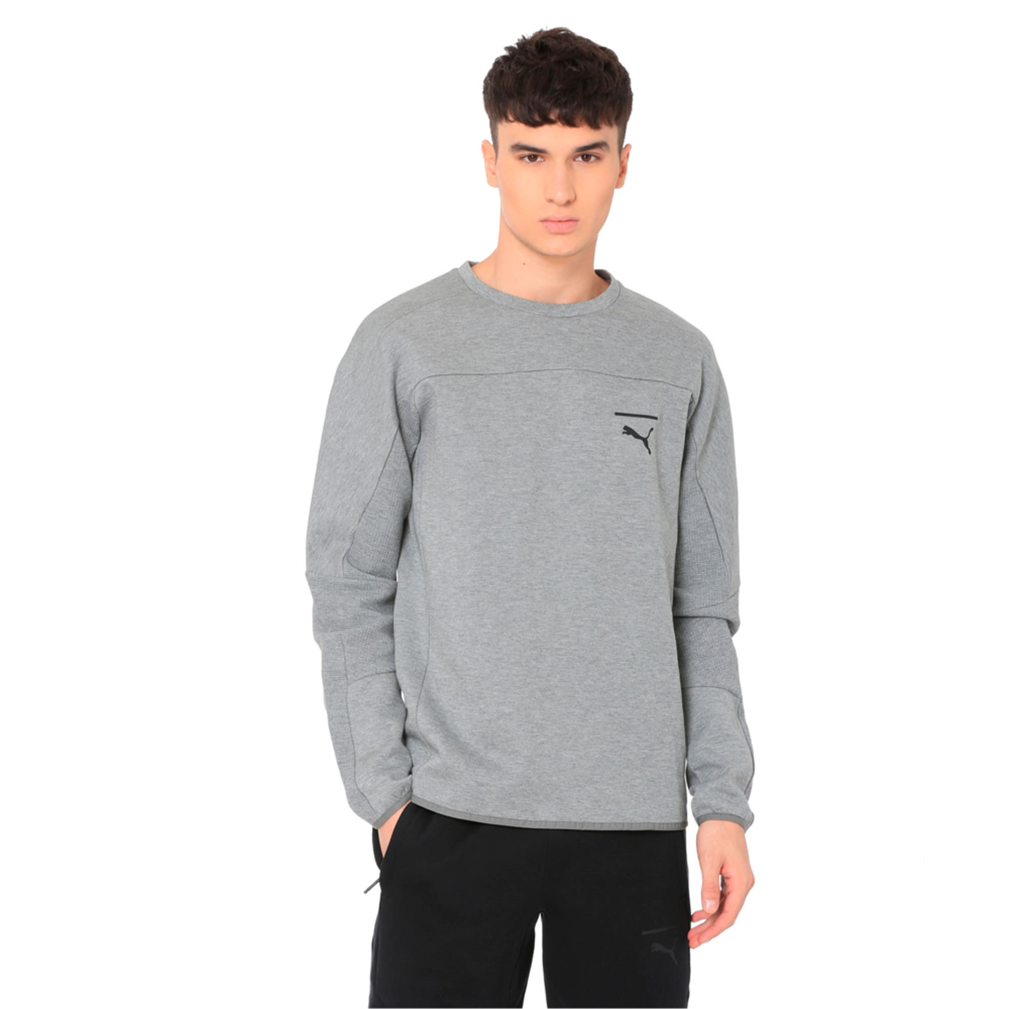 Thumbnail 1 of Pace Crew Neck Men's Sweatshirt, Medium Gray Heather, medium-IND