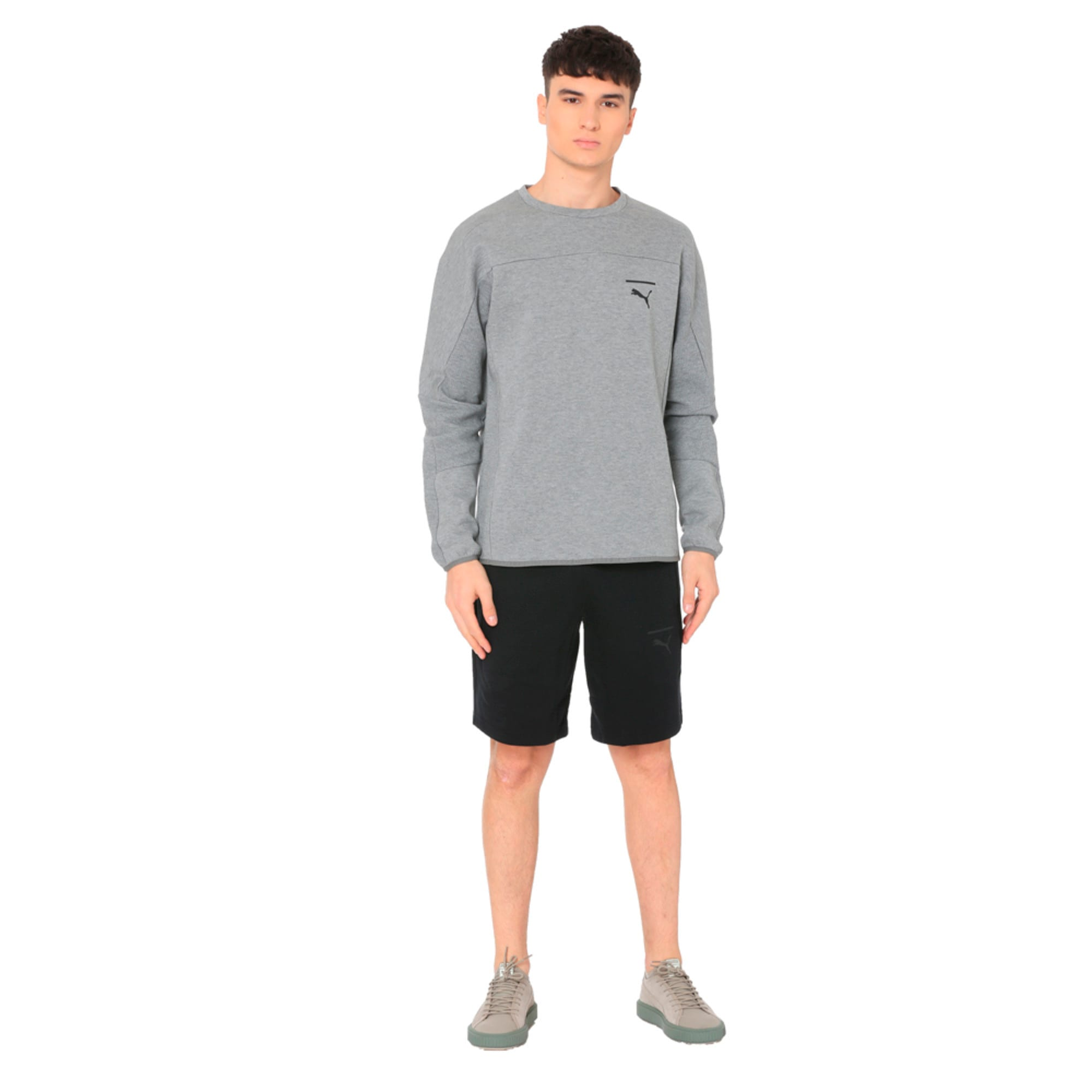 Thumbnail 2 of Pace Crew Neck Men's Sweatshirt, Medium Gray Heather, medium-IND