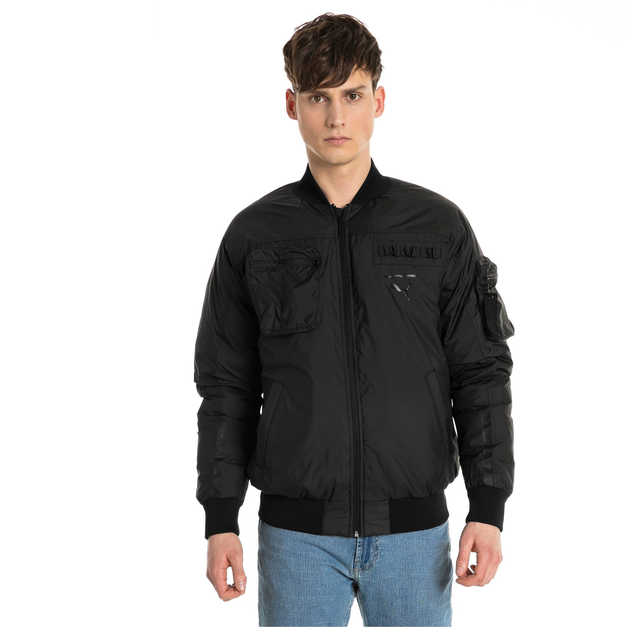 Thumbnail 2 of Pace Lab Zip-Up Down Men's Bomber, Puma Black, medium-IND