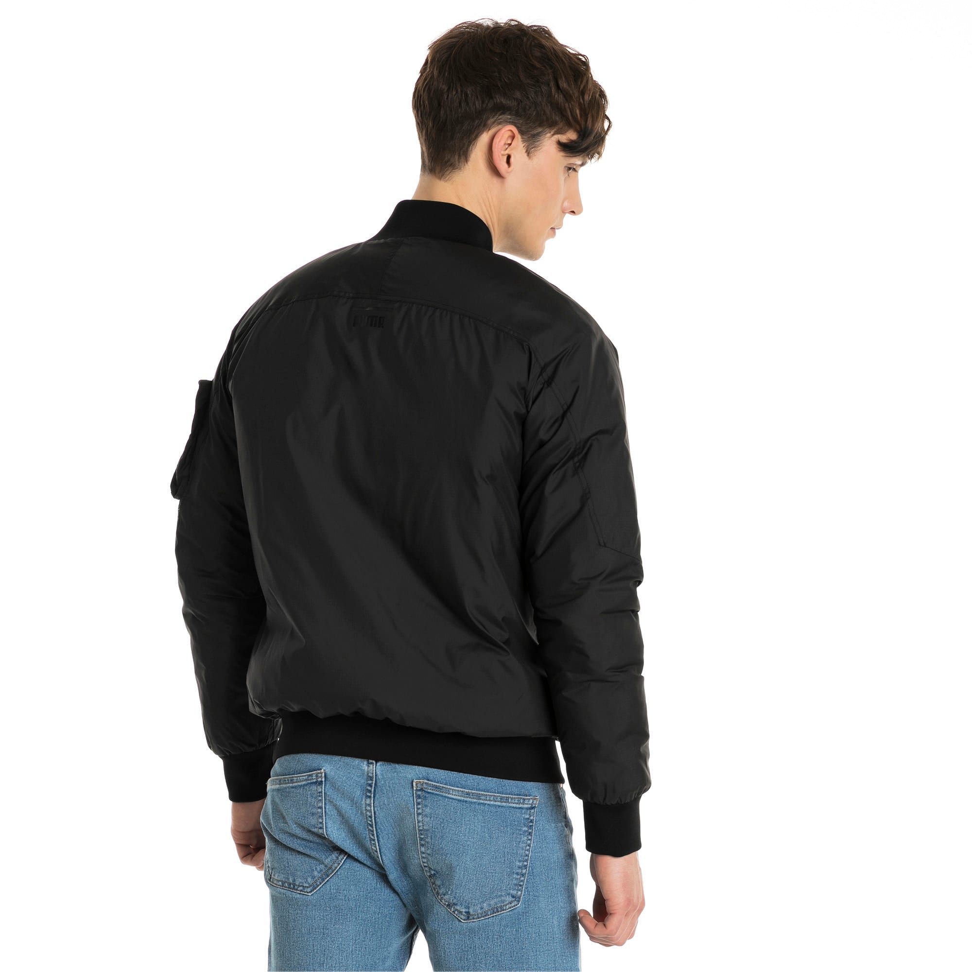 Thumbnail 3 of Pace Lab Zip-Up Down Men's Bomber, Puma Black, medium-IND