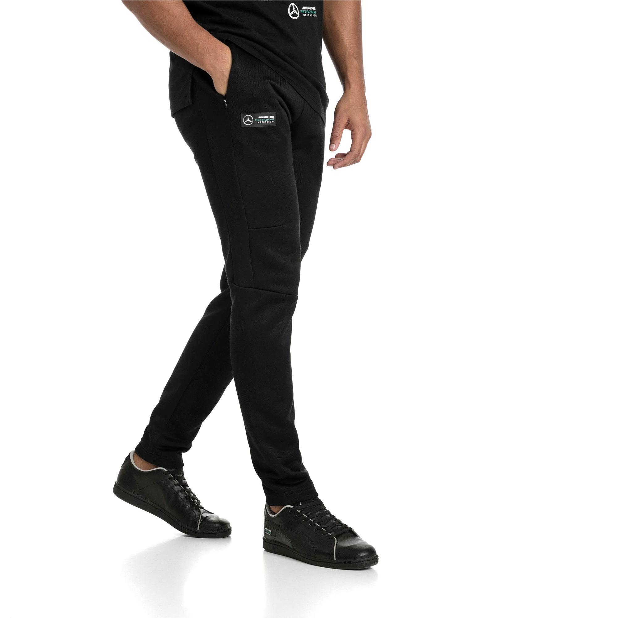 Thumbnail 2 of MERCEDES AMG PETRONAS Men's T7 Track Pants, Puma Black, medium-IND