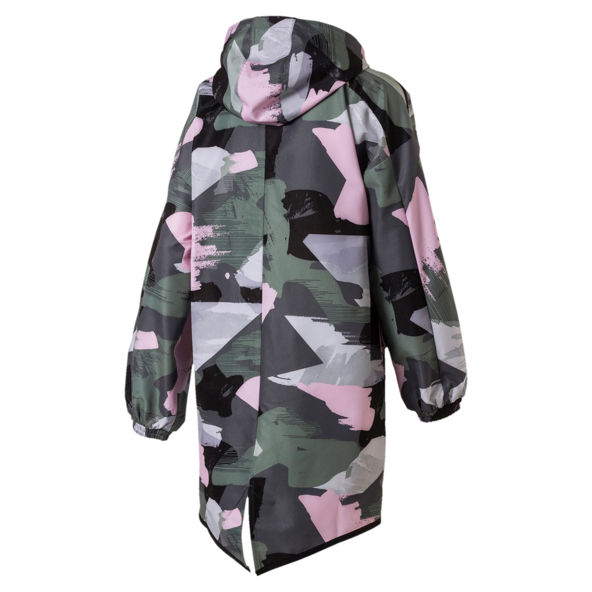 Thumbnail 5 of Chase AOP Zip-Up Hooded Women's Parka, Iron Gate, medium-IND