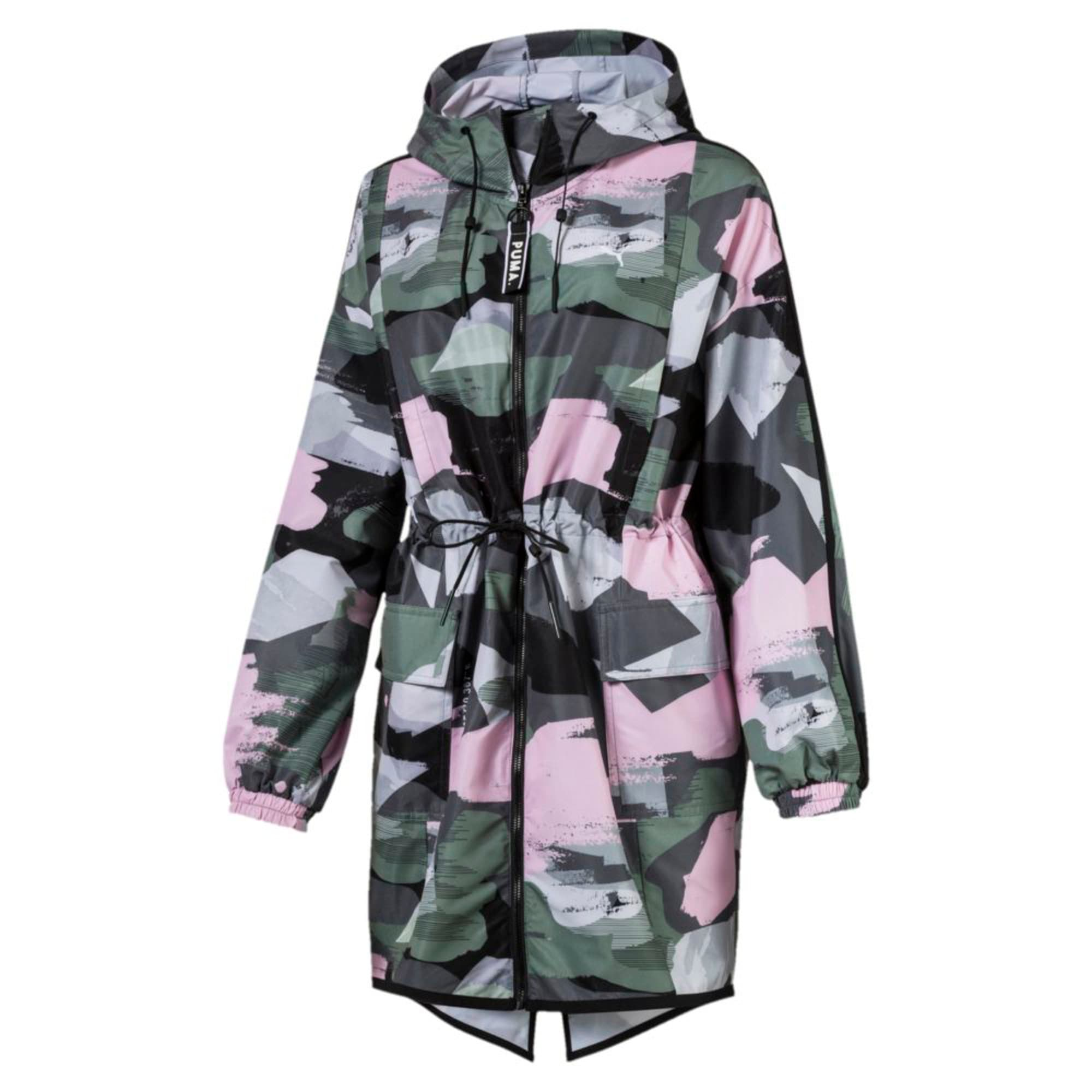 Thumbnail 4 of Chase AOP Zip-Up Hooded Women's Parka, Iron Gate, medium-IND