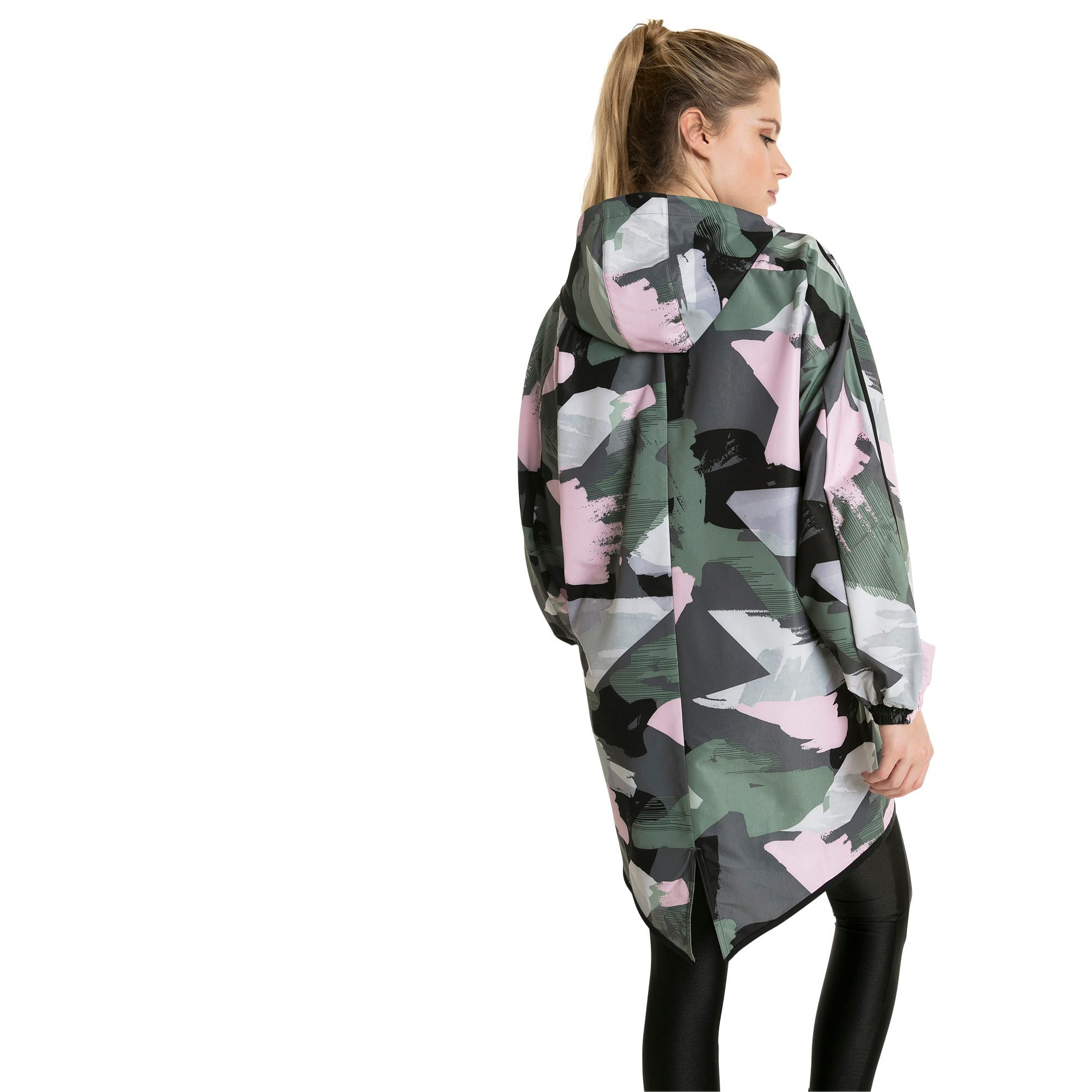 Thumbnail 2 of Chase AOP Zip-Up Hooded Women's Parka, Iron Gate, medium-IND