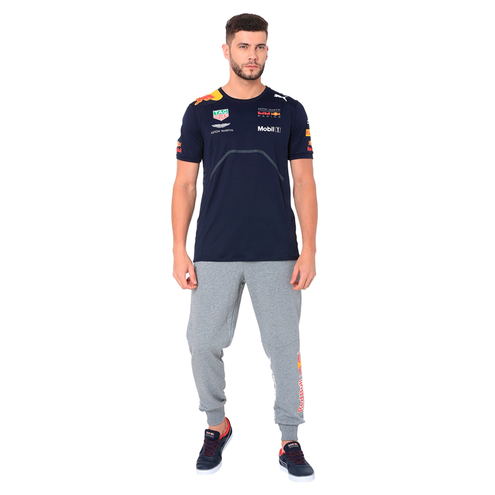 Thumbnail 3 of Red Bull Racing Men's Sweat Pants, Medium Gray Heather, medium-IND