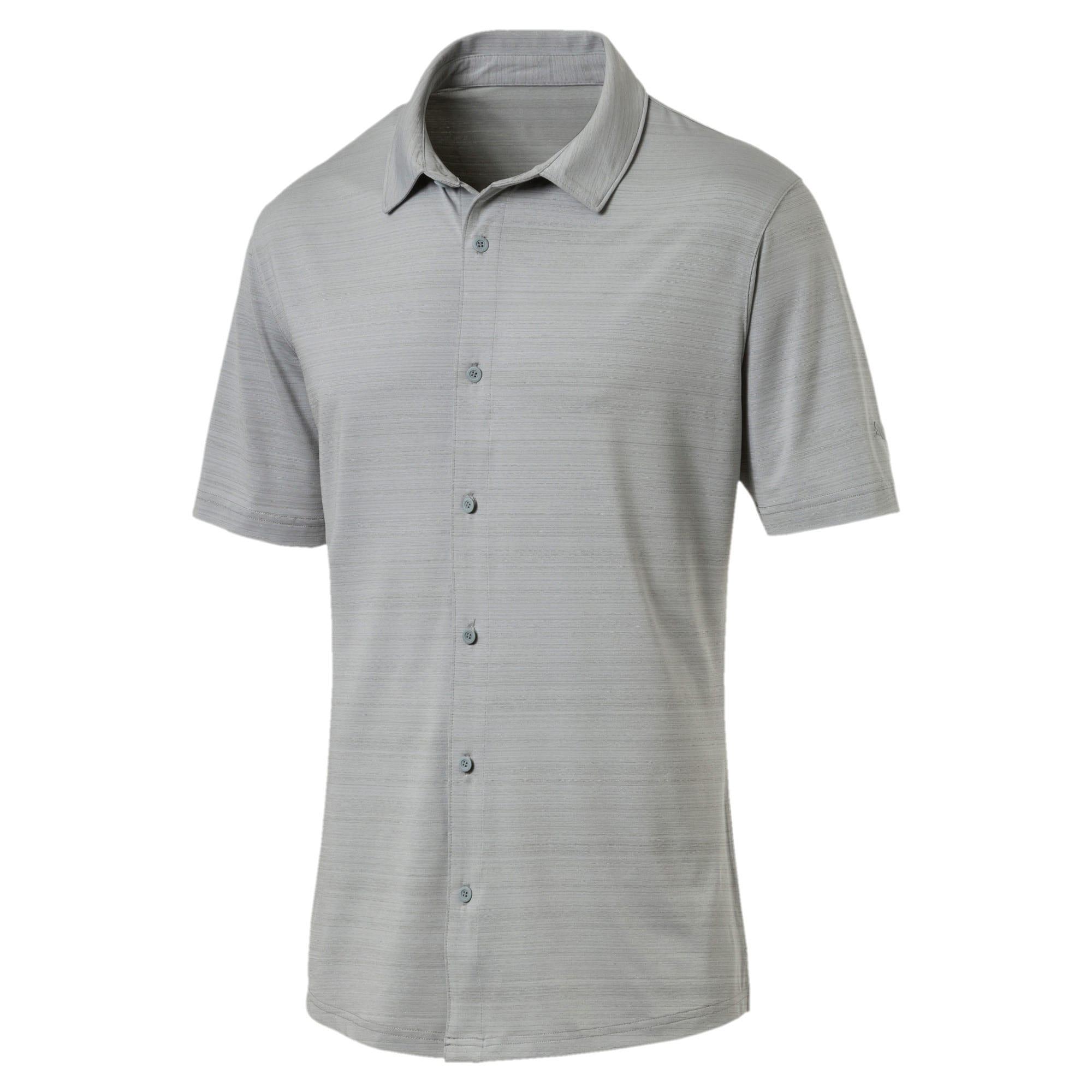 Thumbnail 4 of Breezer Short Sleeve Men's Golf Shirt, Quarry, medium