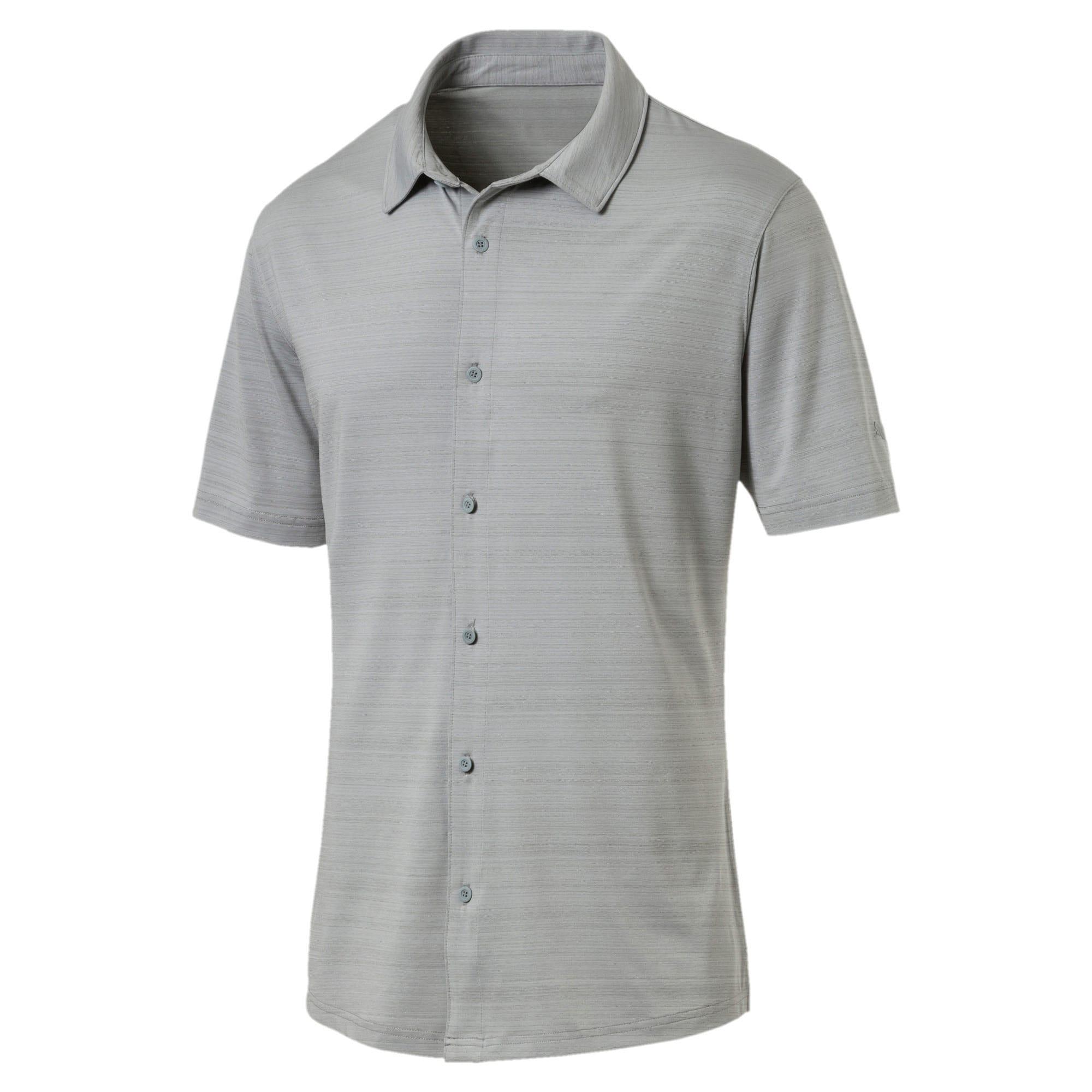 Thumbnail 4 of Breezer Short Sleeve Men's Golf Shirt, Quarry, medium-IND