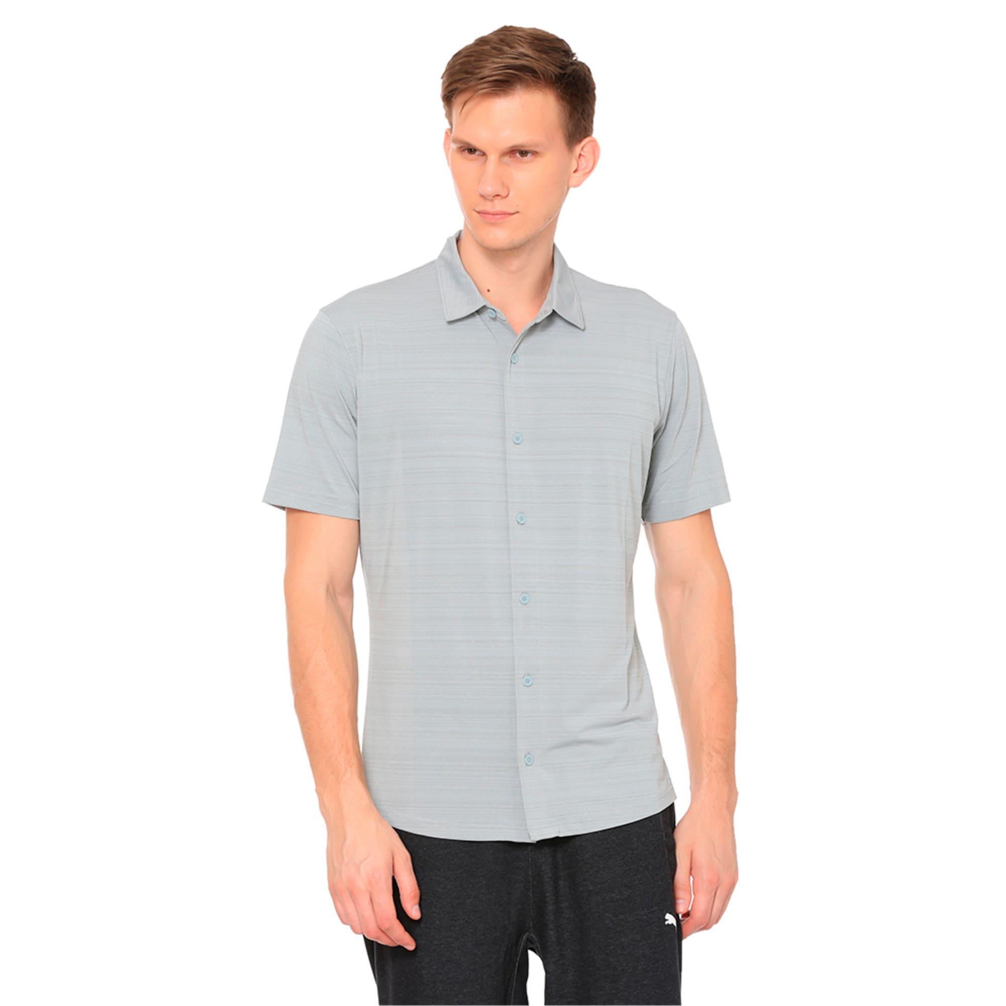 Thumbnail 1 of Breezer Short Sleeve Men's Golf Shirt, Quarry, medium-IND
