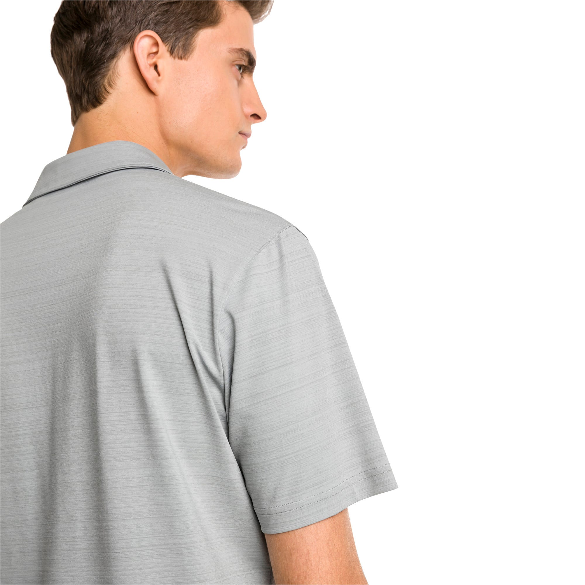 Thumbnail 2 of Breezer Short Sleeve Men's Golf Shirt, Quarry, medium