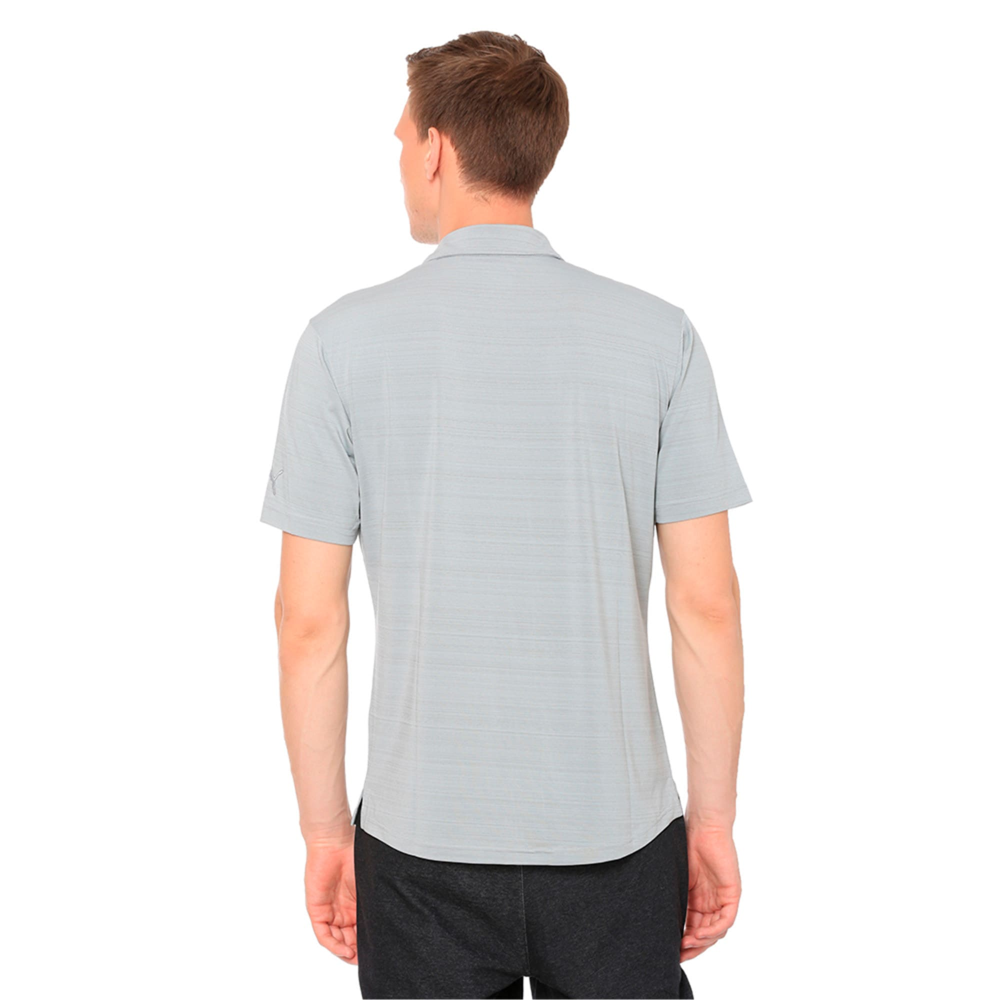 Thumbnail 2 of Breezer Short Sleeve Men's Golf Shirt, Quarry, medium-IND
