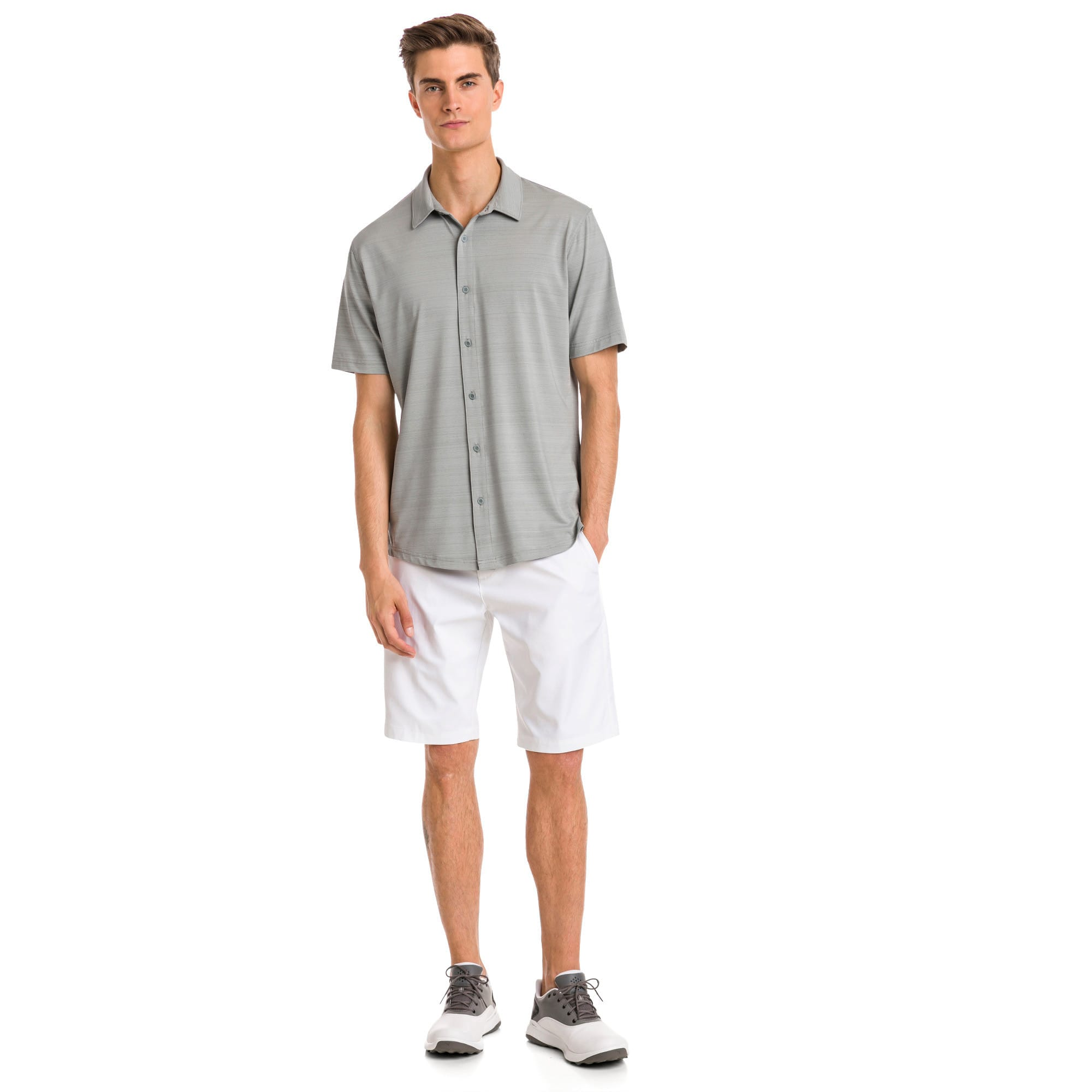 Thumbnail 3 of Breezer Short Sleeve Men's Golf Shirt, Quarry, medium